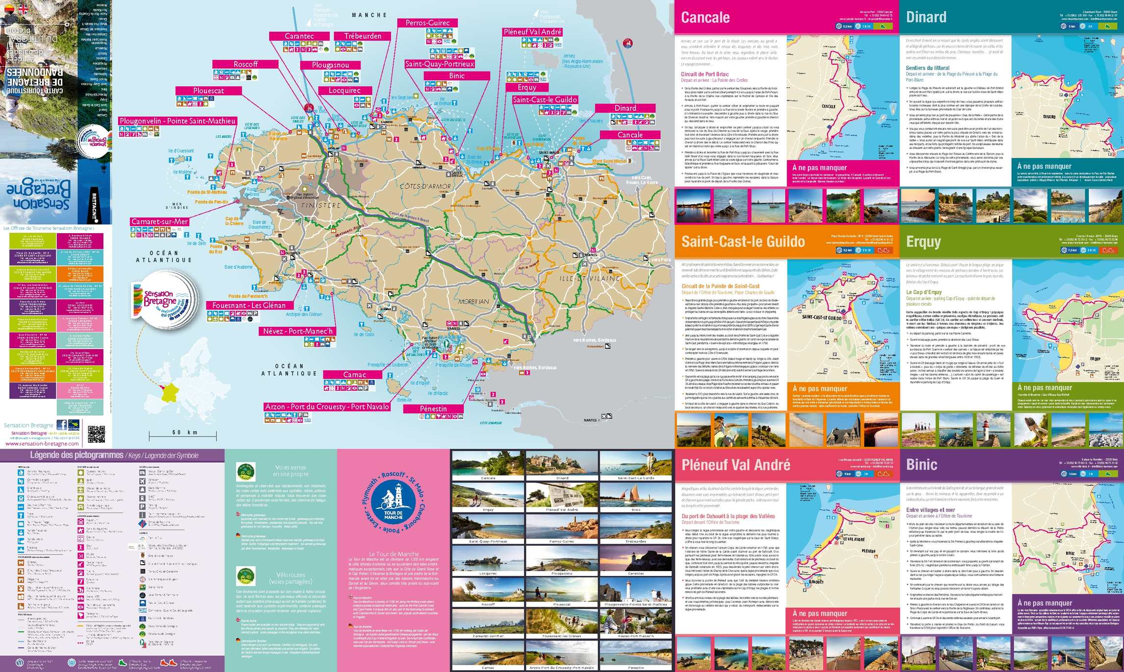 Calaméo Carte Sensation Bretagne 2015 21 Balades à Pied