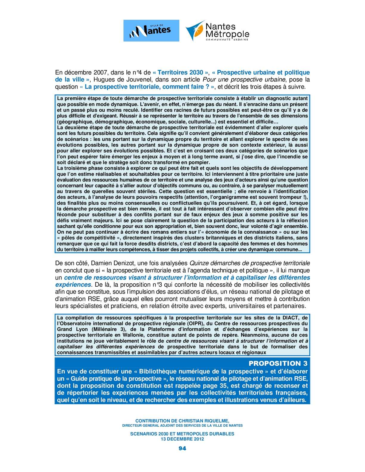 Scenarios 2030 Et Metropoles Durables Calameo Downloader