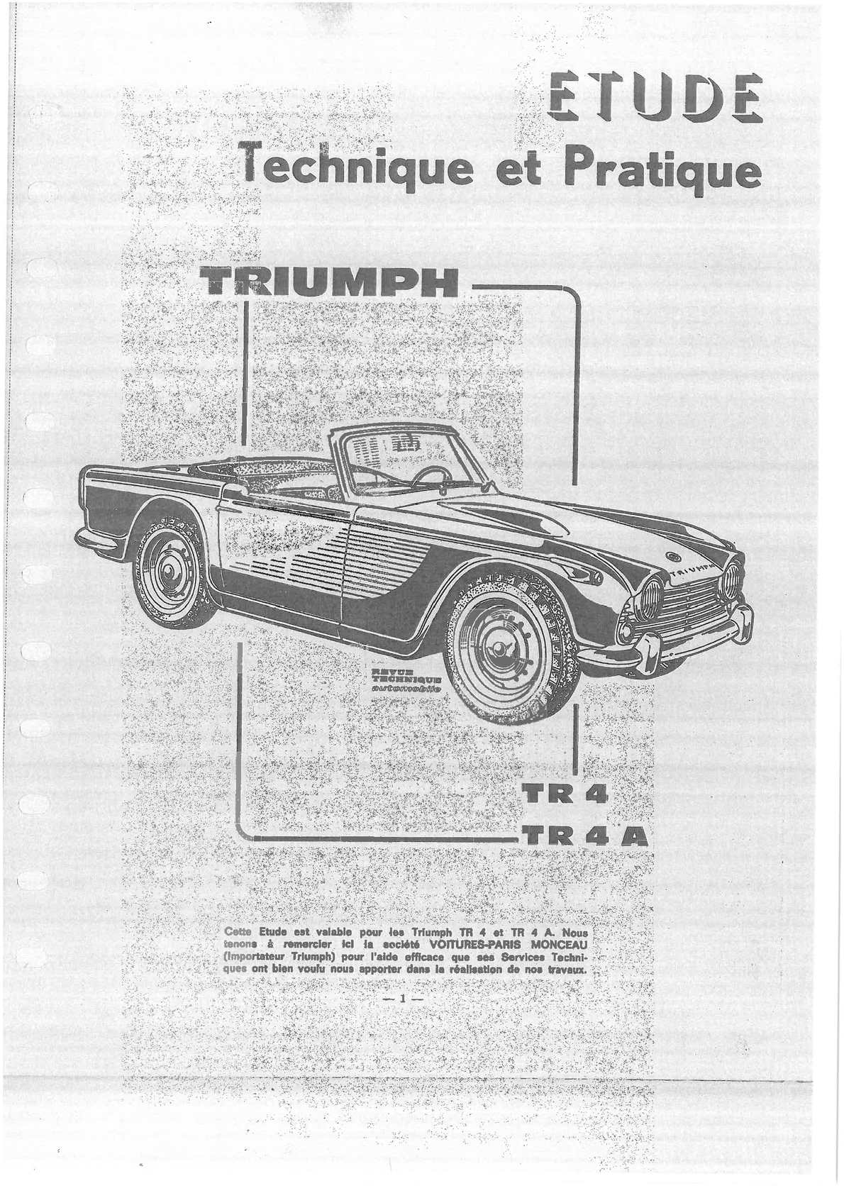 Revue Technique Automobile N240 Triumph Tr4 Tr4a Calameo Downloader
