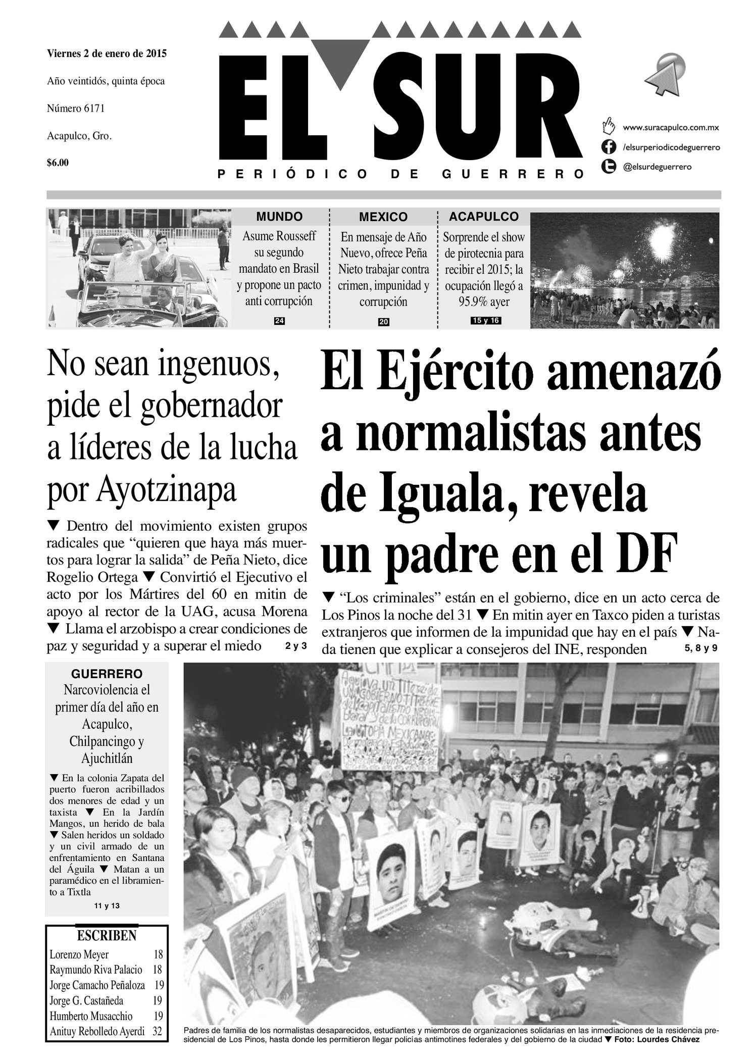 Calaméo - El Sur Viernes 02012015 7d3c3d13bf401