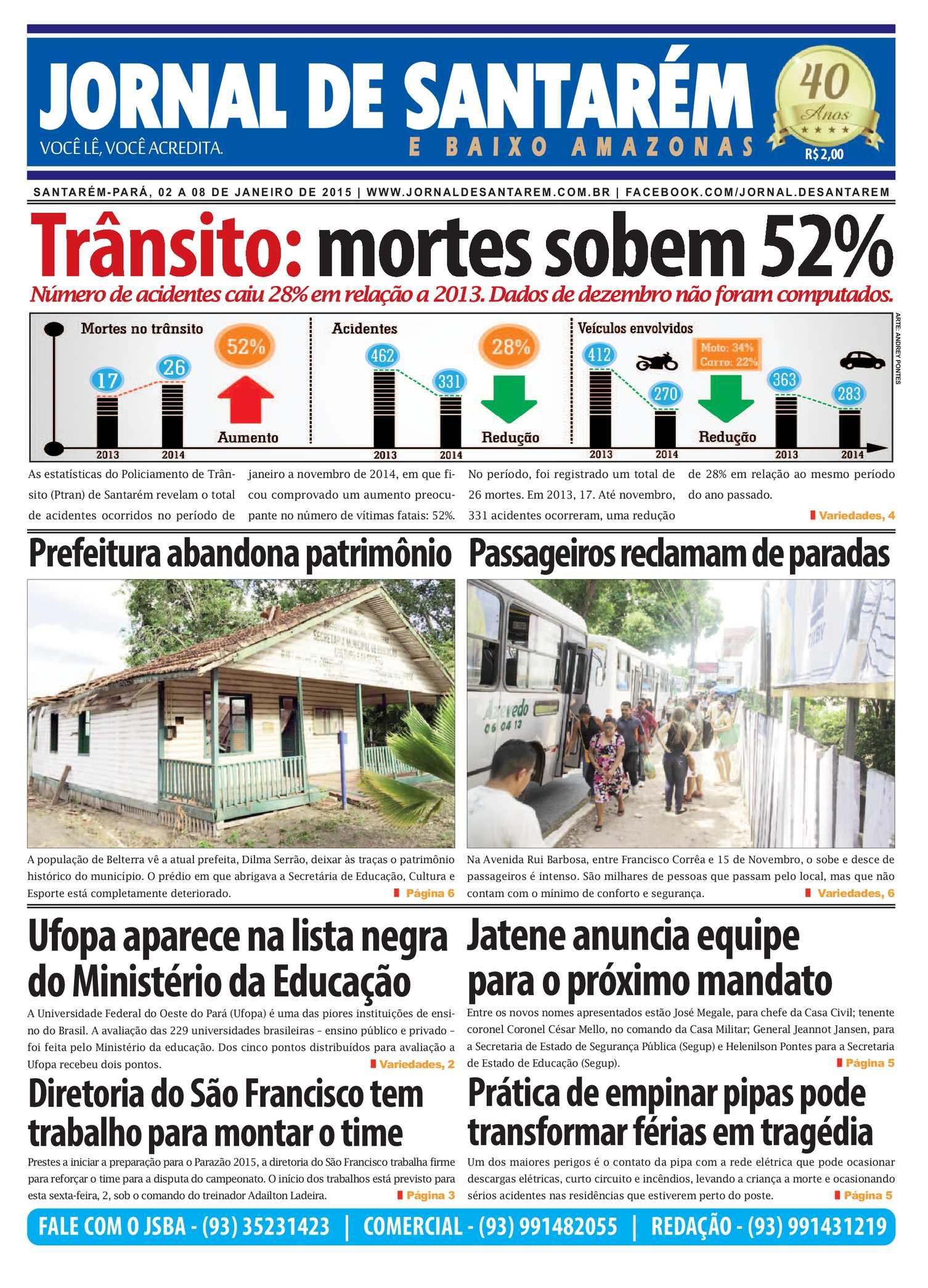 76a11d5da Calaméo - JORNAL DE SANTARÉM E BAIXO AMAZONAS EDIÇÃO DE 02 A 08 DE JANEIRO  DE 2015