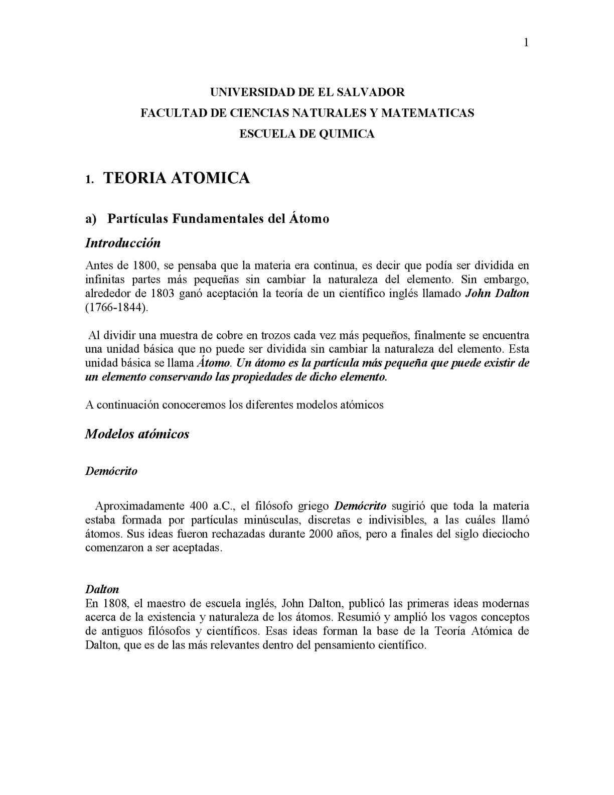 Calaméo Módulo De Química De La Universidad De El Salvador