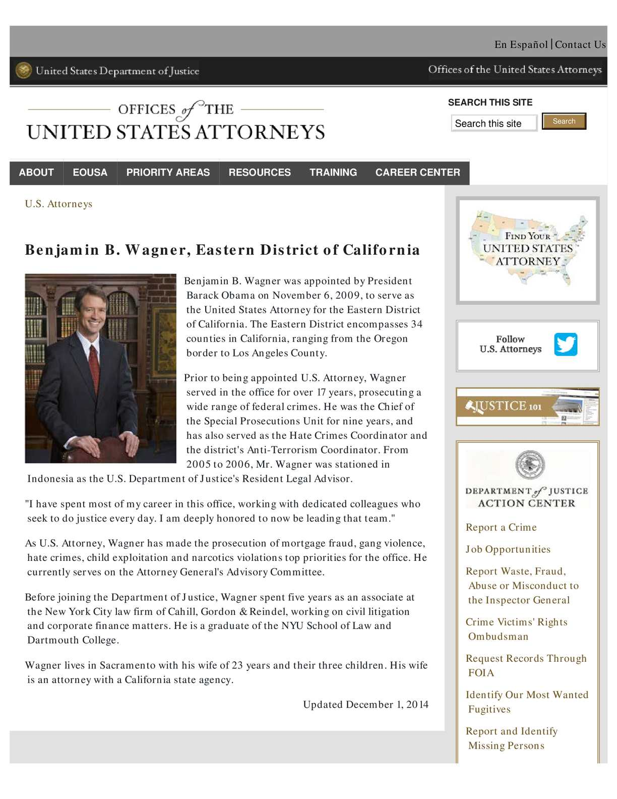 Calaméo - Benjamin Wagner US Attorney Eastern District Of
