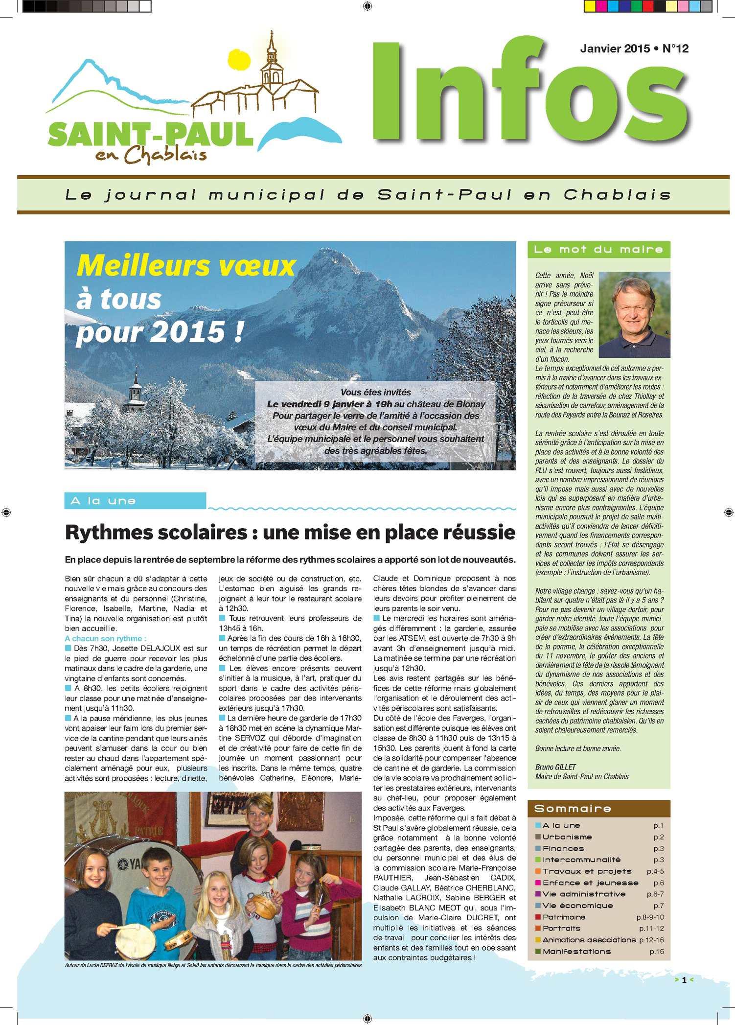 2015 Paul Infos N°12 Janvier Saint Calaméo SMUzpqV