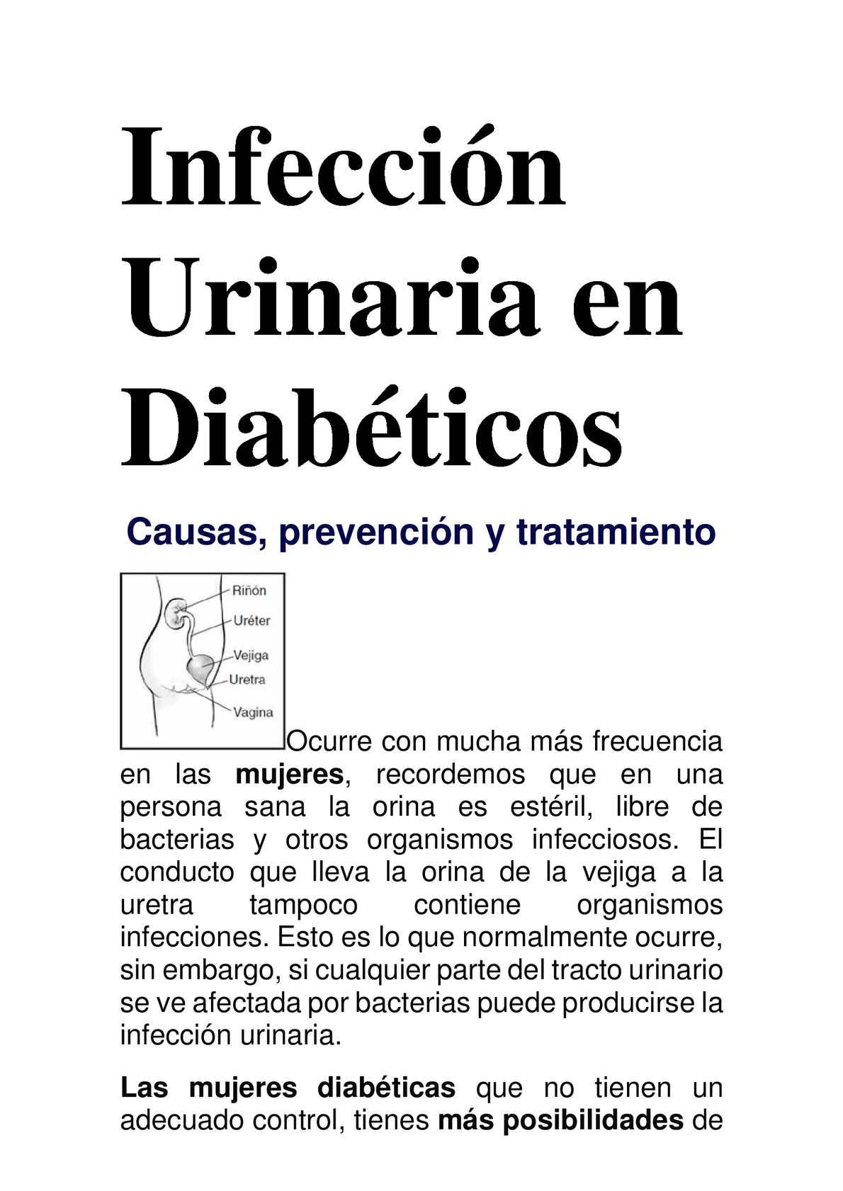 Infeccion urinaria sintomas mujeres