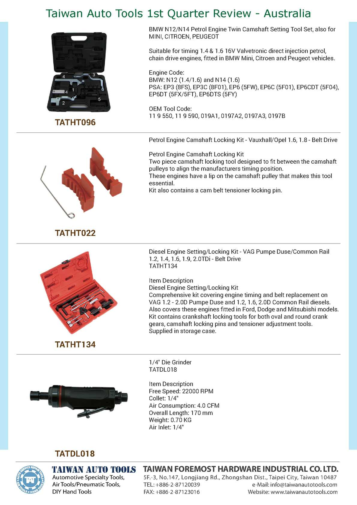 Calaméo - Taiwan Auto Tools 1st Quarter Review Australia