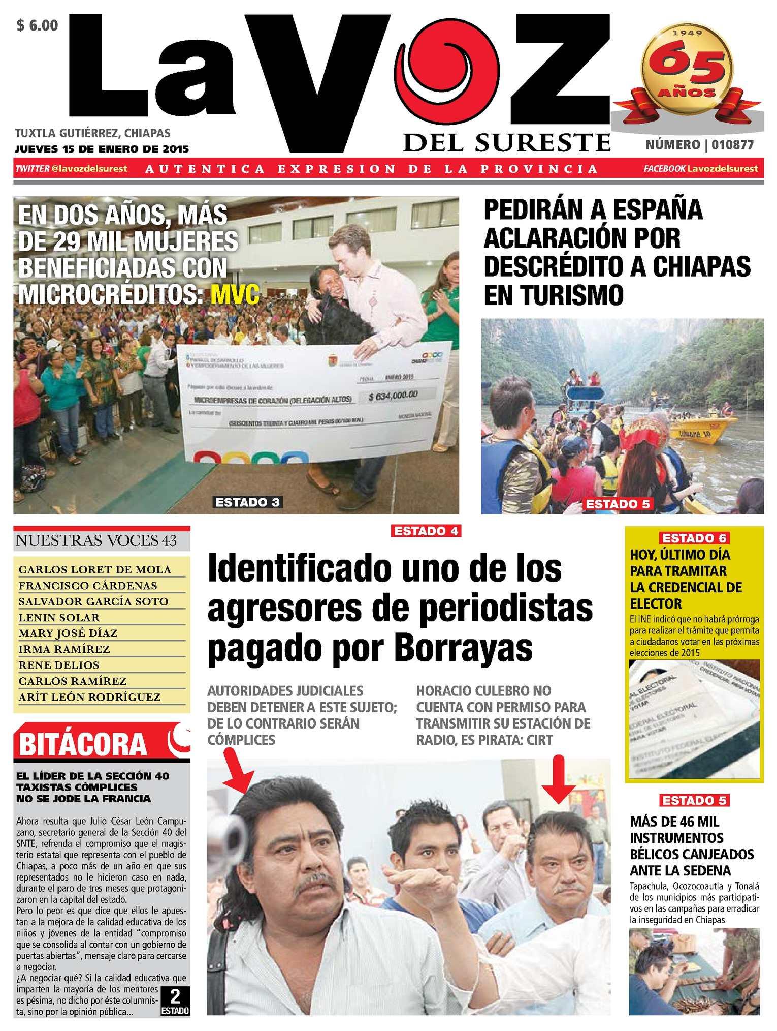 7a57bb8eaf2 Calaméo - Diario La Voz del Sureste