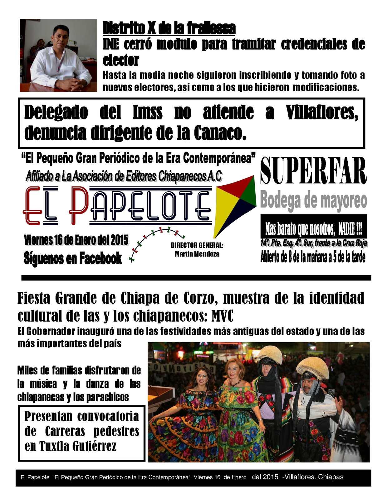 Calaméo 16 De Enero Del Papelote Viernes Del 2015