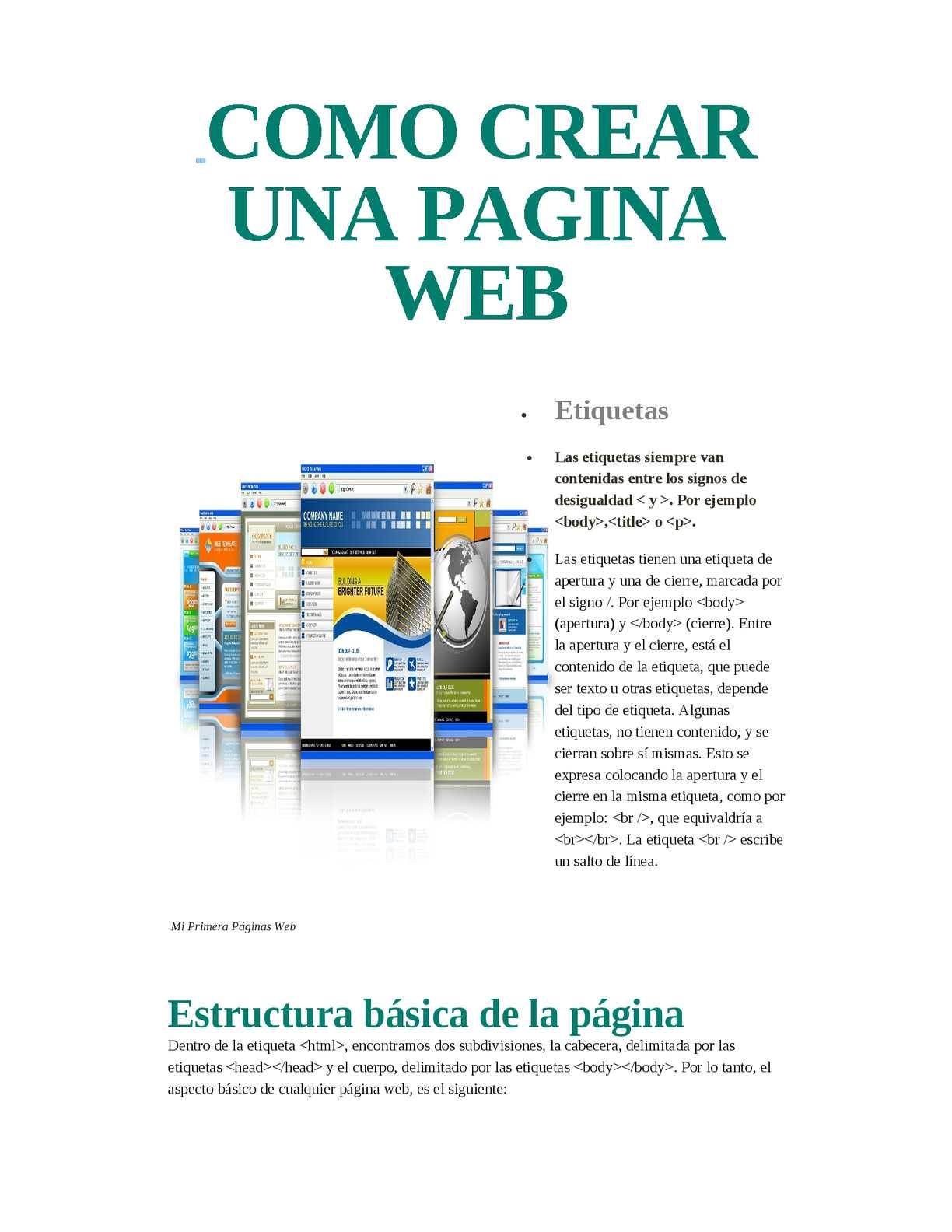 Calaméo Como Crear Una Pagina Web