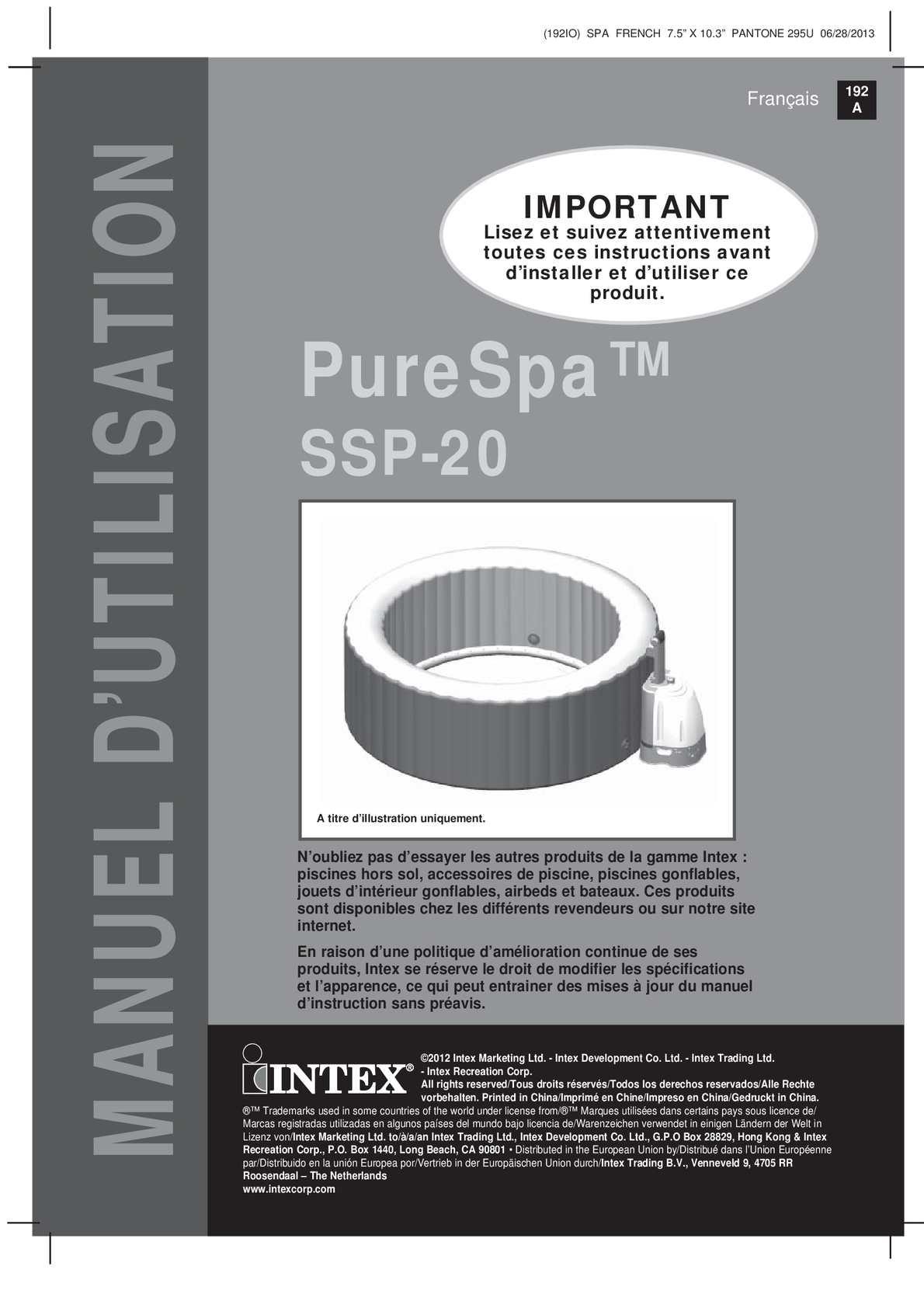 Spa Intex Qui Se Degonfle calaméo - notice de montage du spa intex purespa bulles