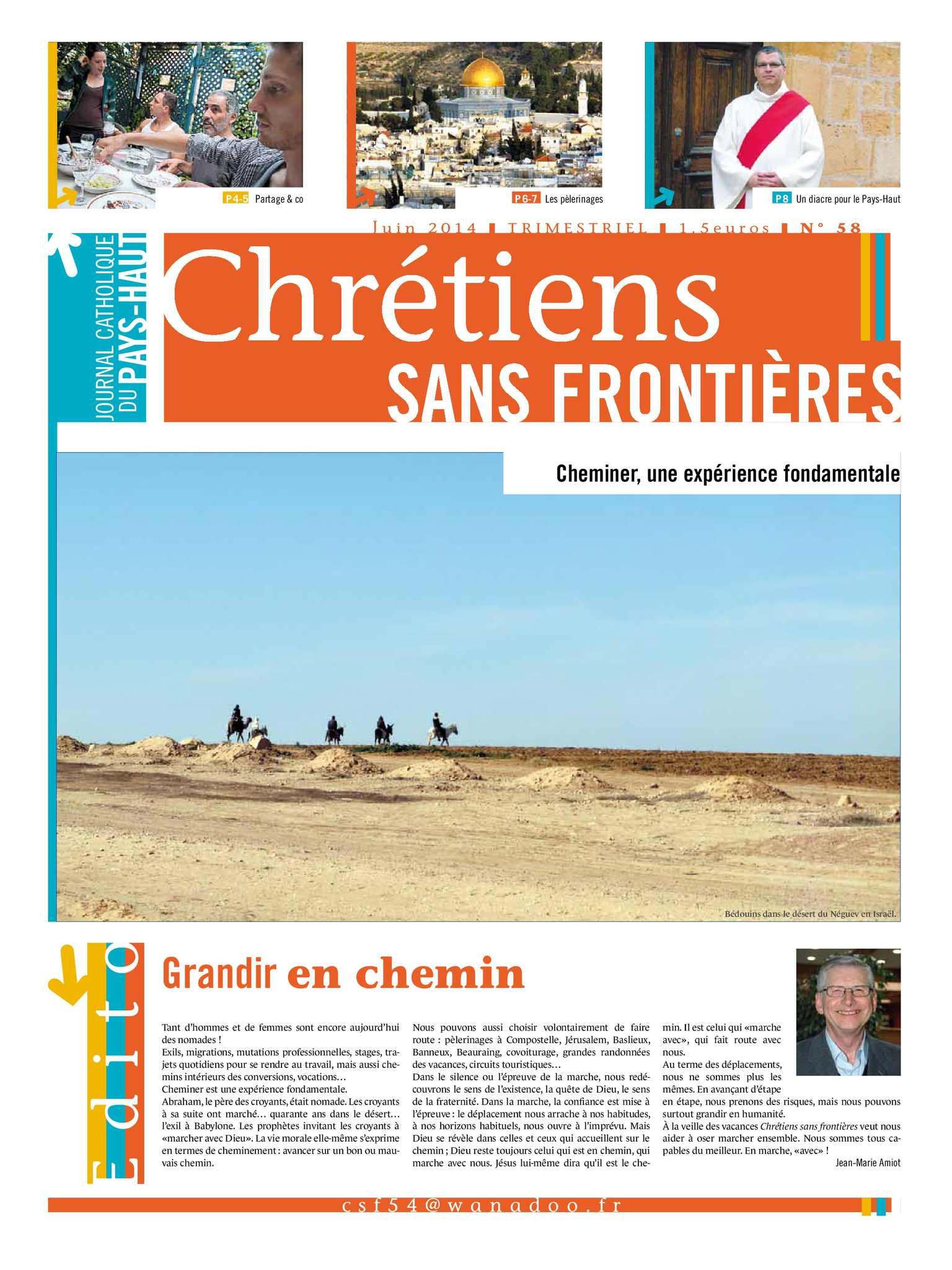 Chrétien datant frontières dans les relations