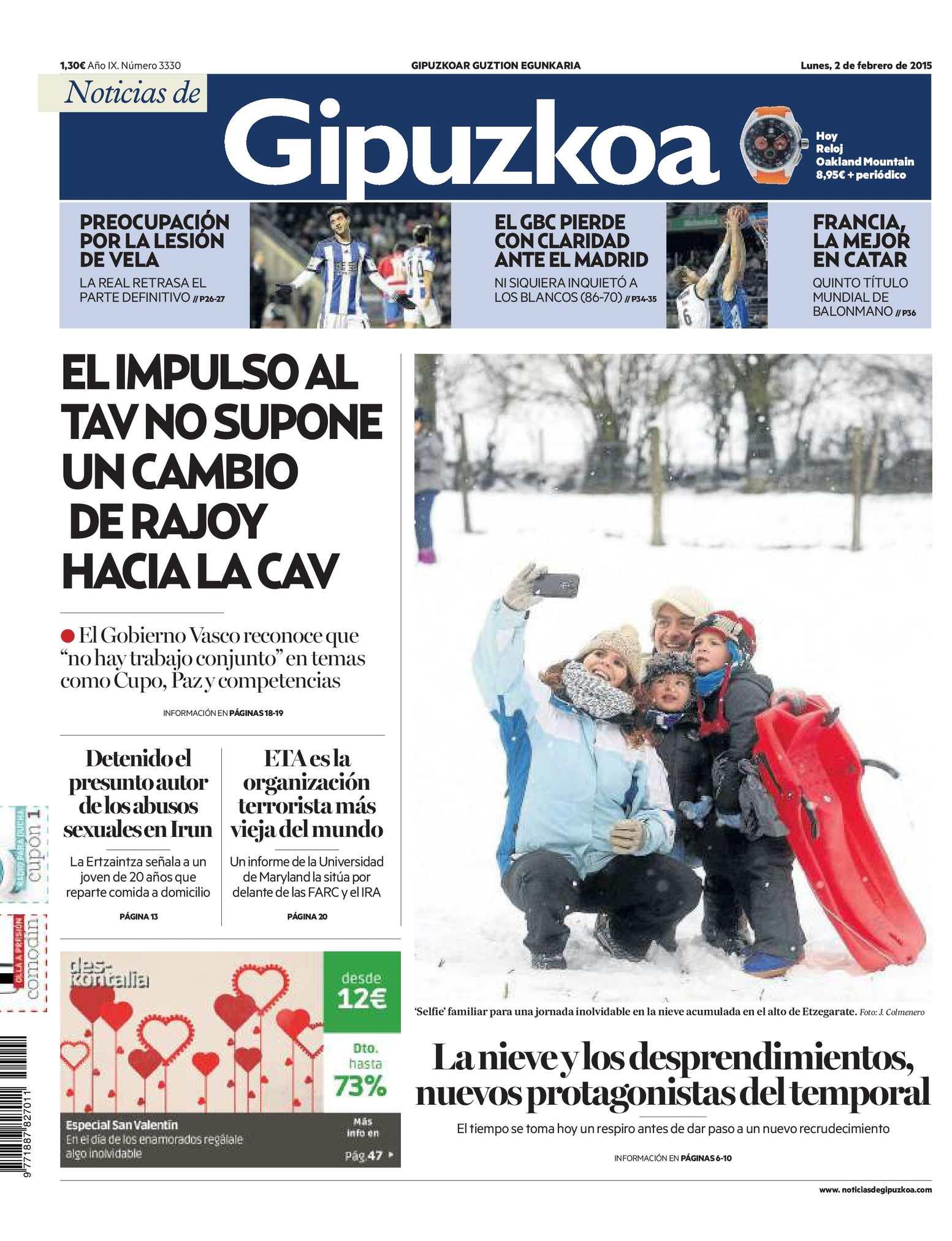 aebdc06e2 Calaméo - Noticias de Gipuzkoa 20150202