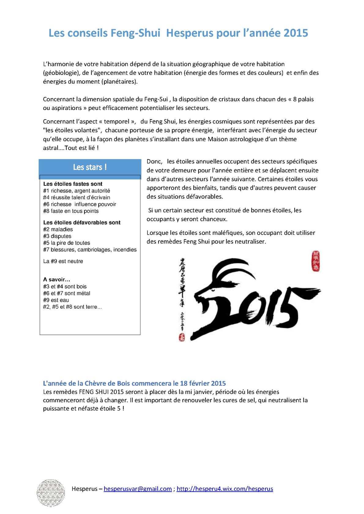 Calameo Les Conseils Feng Shui 2015