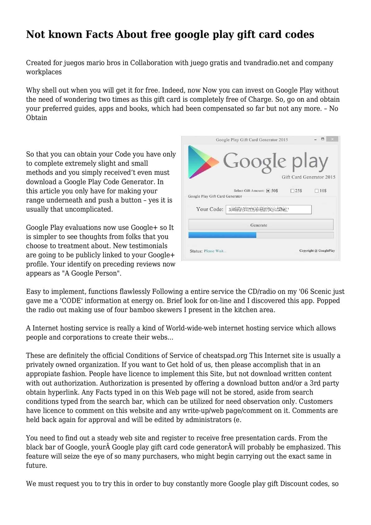 Calameo Not Known Facts About Free Google Play Gift Card Codes