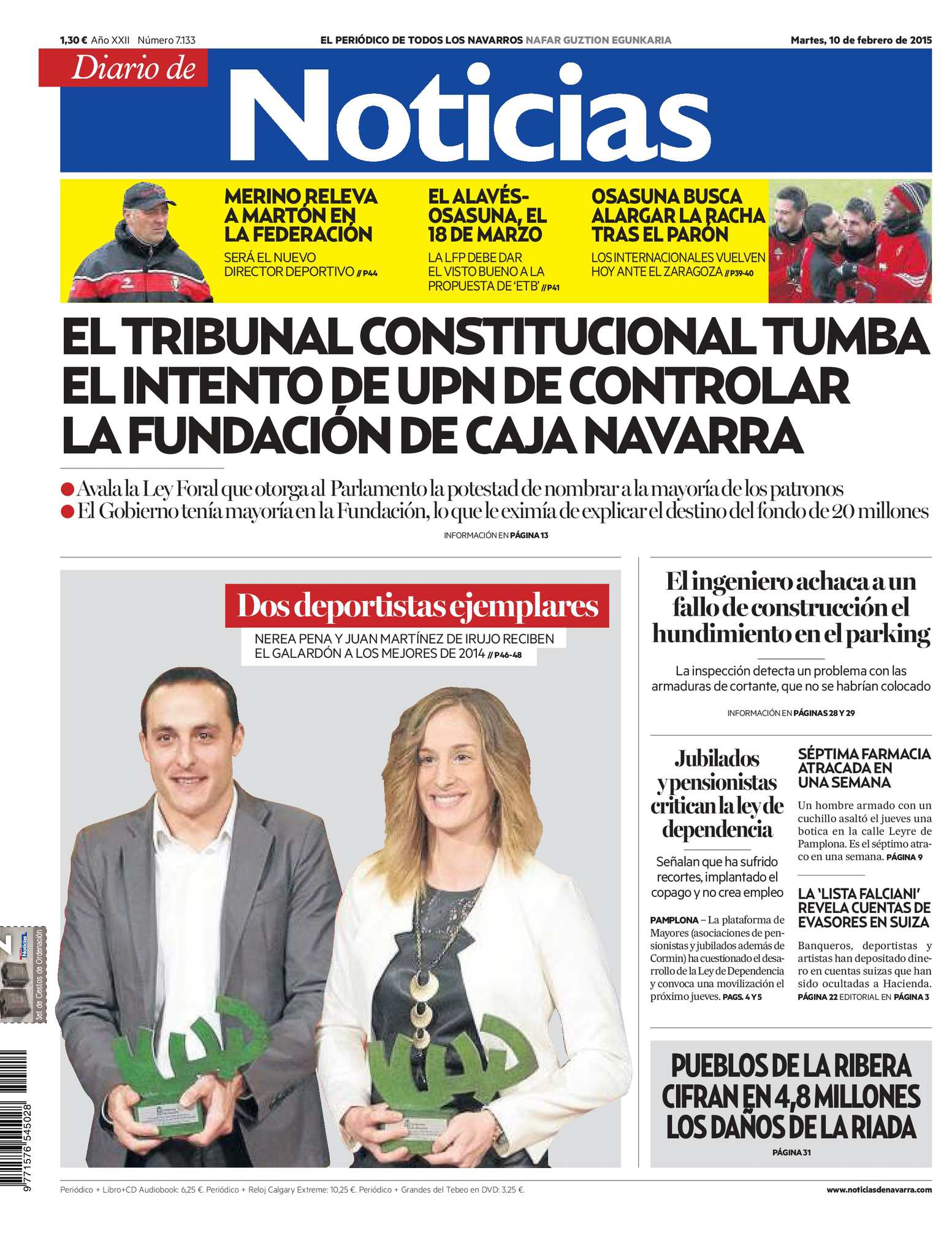 5eb08195d040 Calaméo - Diario de Noticias 20150210