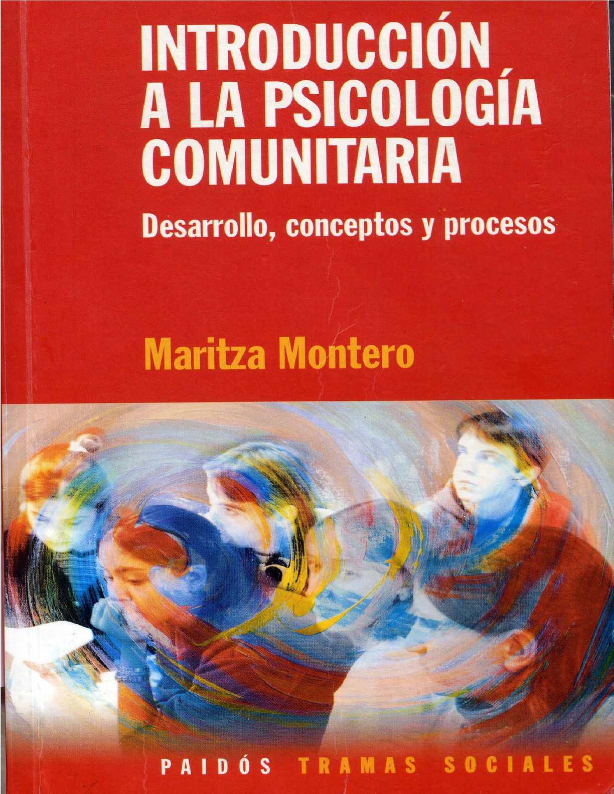 Calaméo - Montero, Maritza Introduccin A La Psicologa Comunitaria  Desarrollo Conceptos Y Procesos
