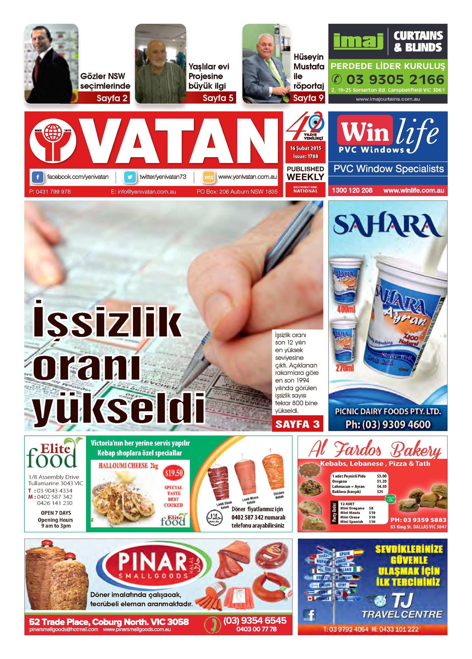 Calameo Yeni Vatan Turkish Newspaper Issue No 1788
