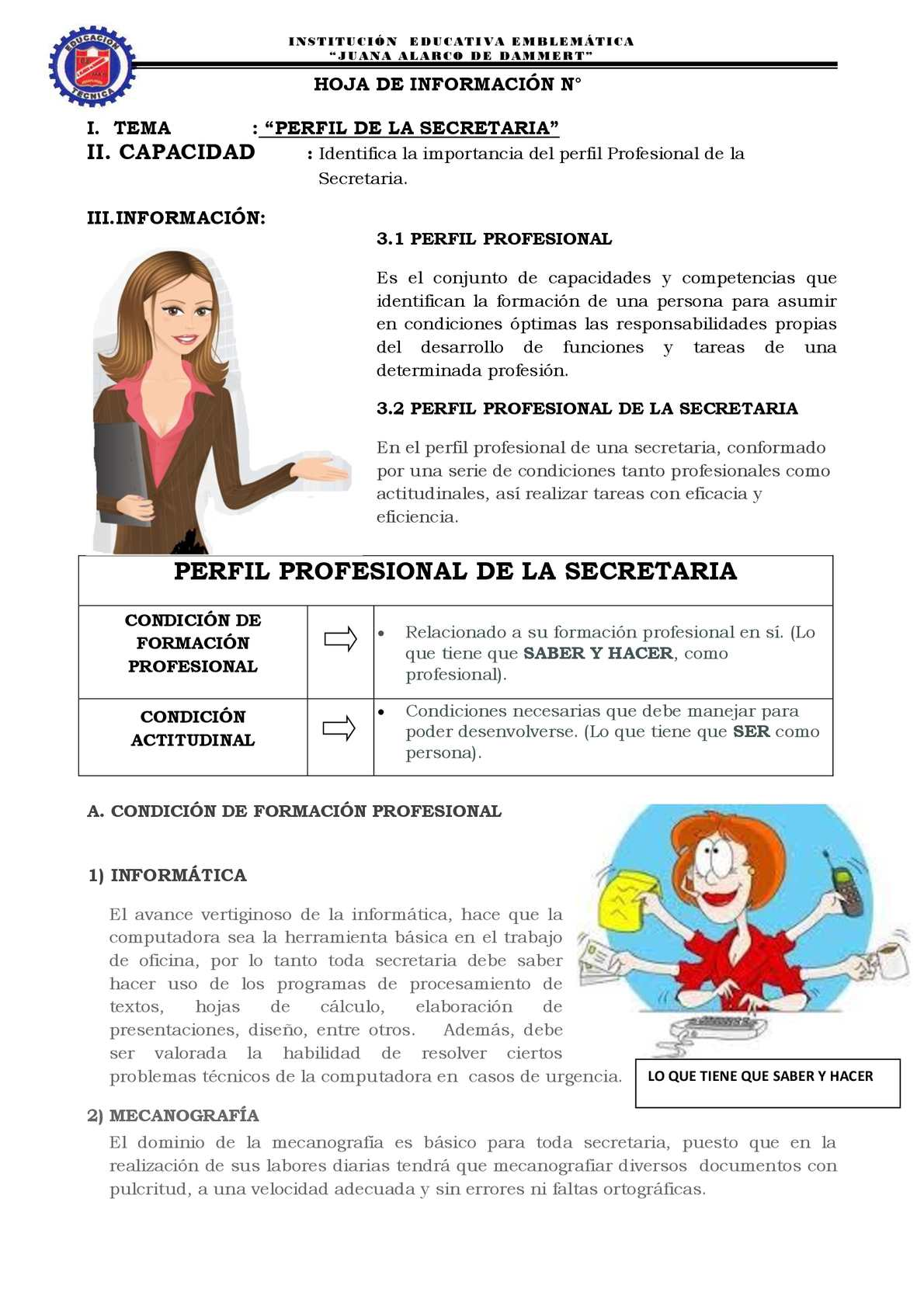 Perfil Secretaria Ok Pdf