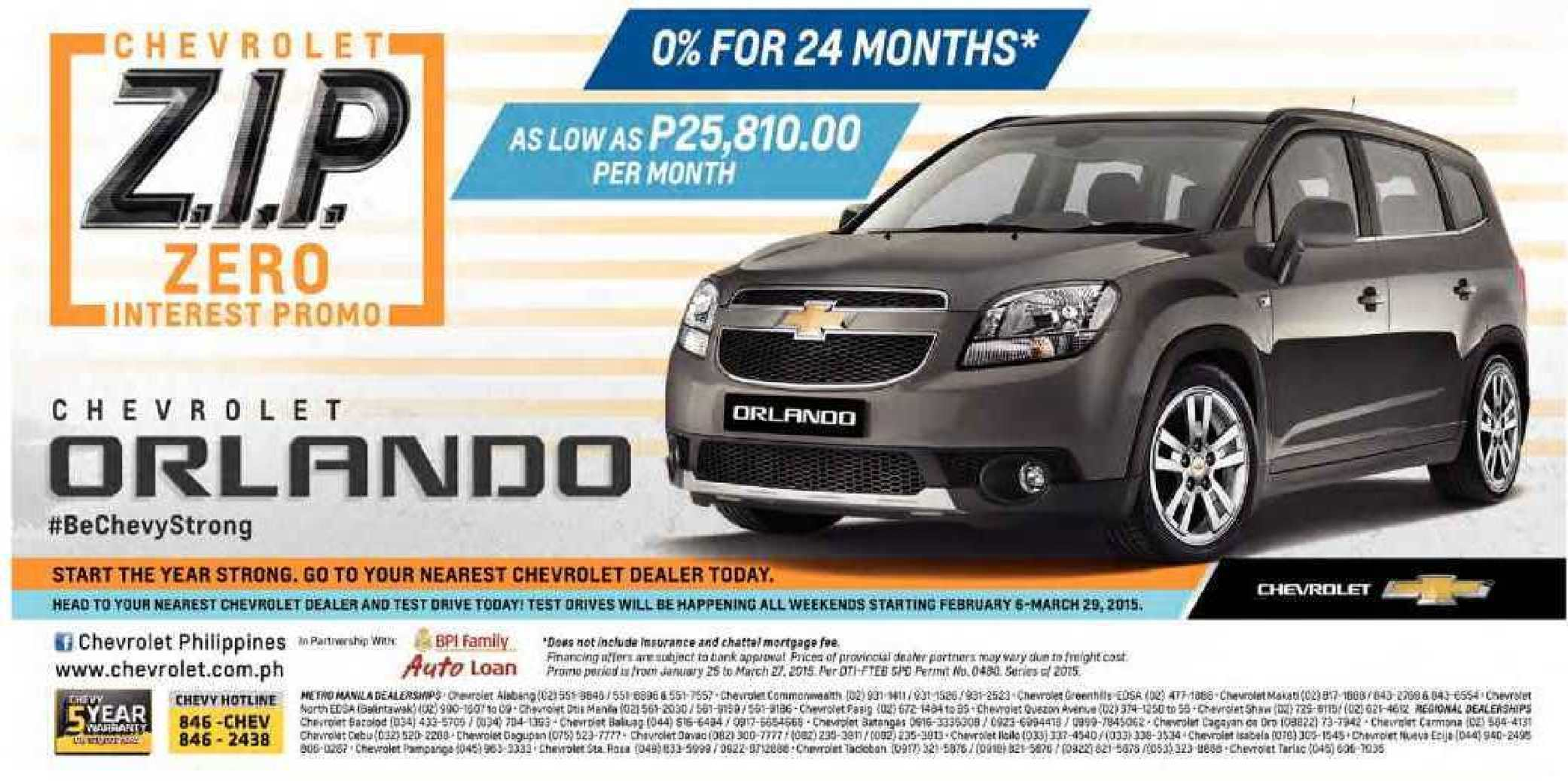 Calameo Chevrolet Orlando For As Low As P25810per Month From February 6 To March 29 201559848 59848