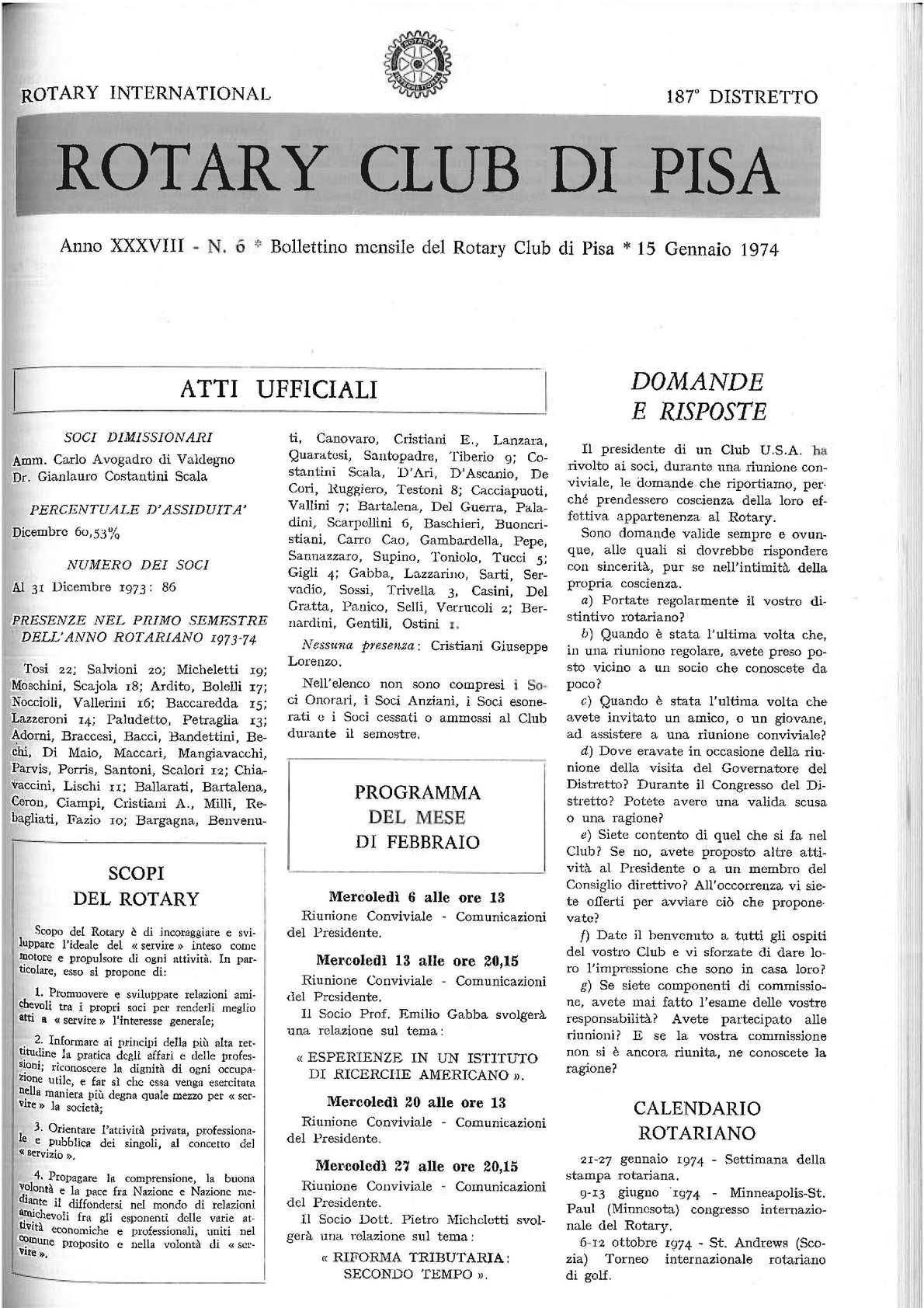 Calendario 1974.Calameo Gennaio 1974