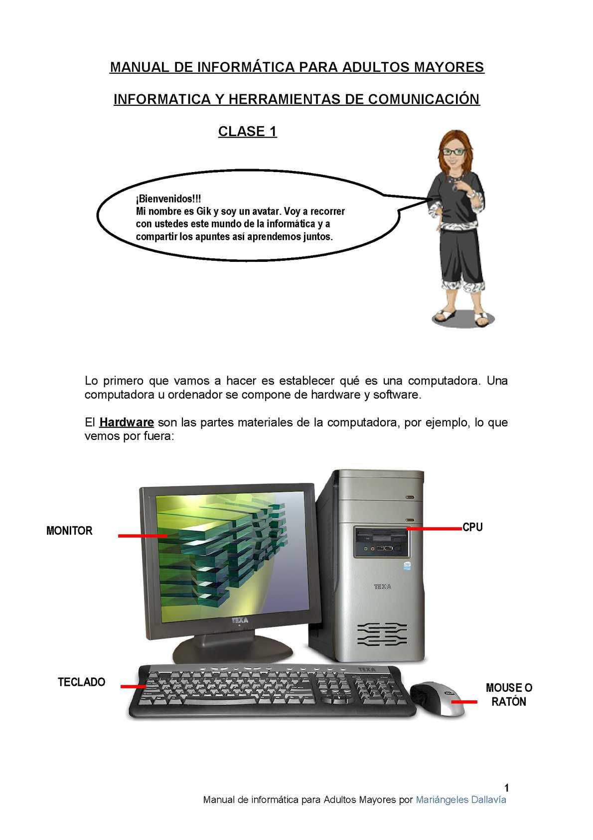 Calaméo - CLASE 1 Manual de informática para Adultos Mayores