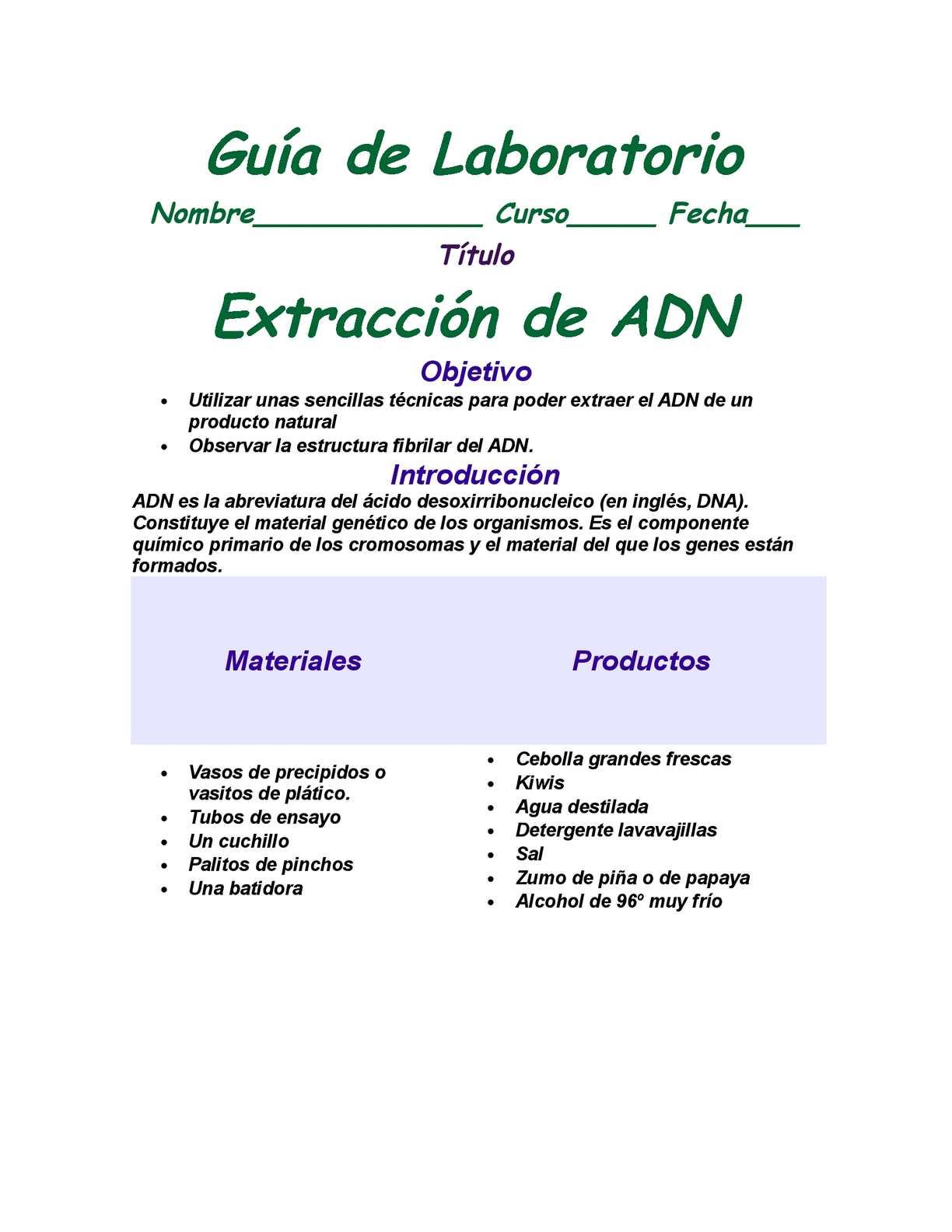 Calaméo Guía De Laboratorio Extracción De Adn Once Noveno