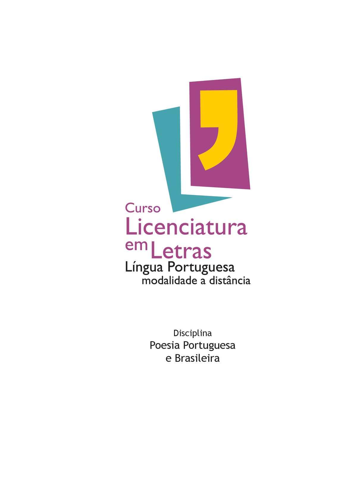4cc71f3dc Calaméo - Licenciatura em Letras - Lingua Portuguesa Modalidade a Distância  - Poesia Portuguesa e Brasileira