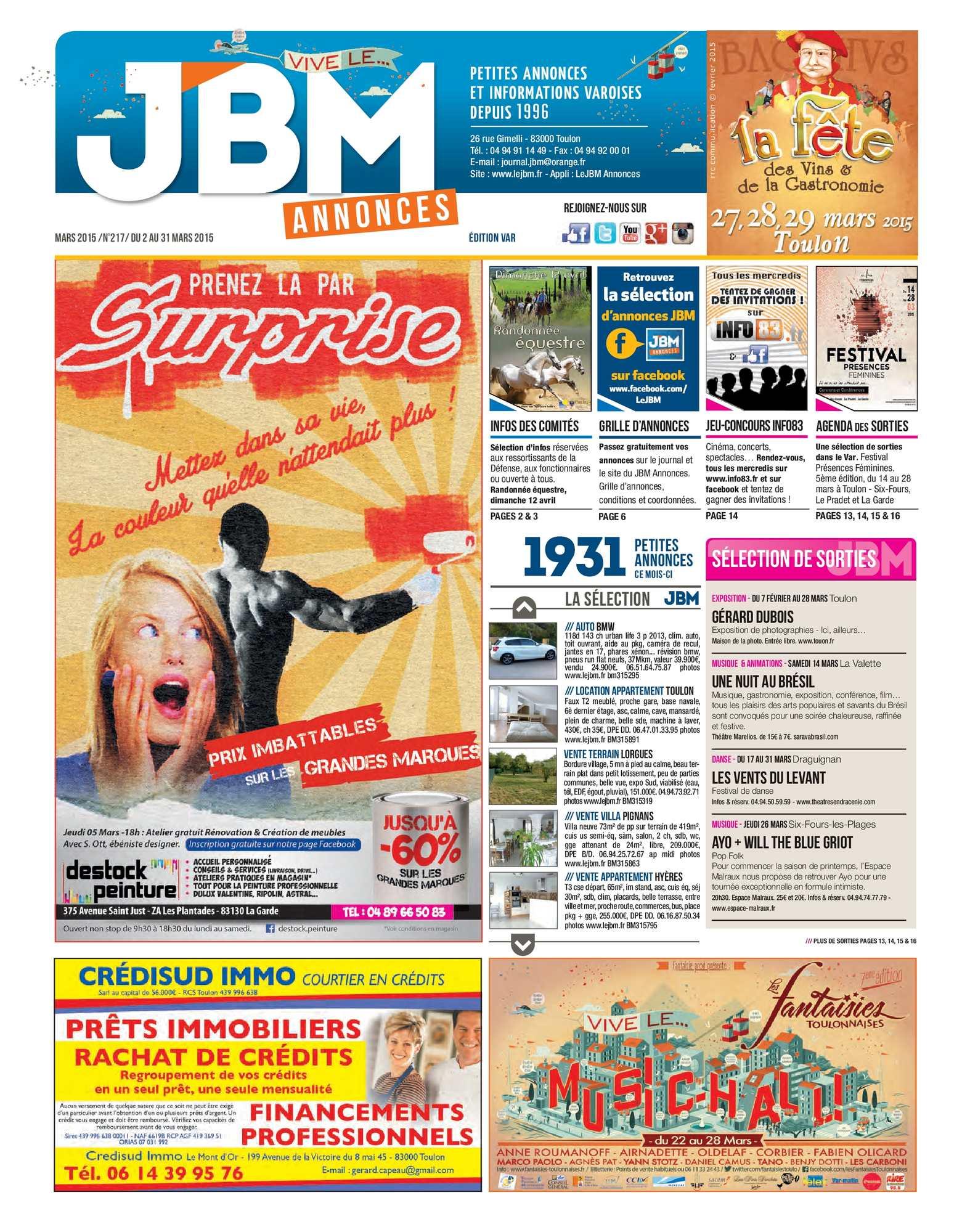 c27772bc63a Calaméo - Journal JBM Annonces n°217 Mars 2015