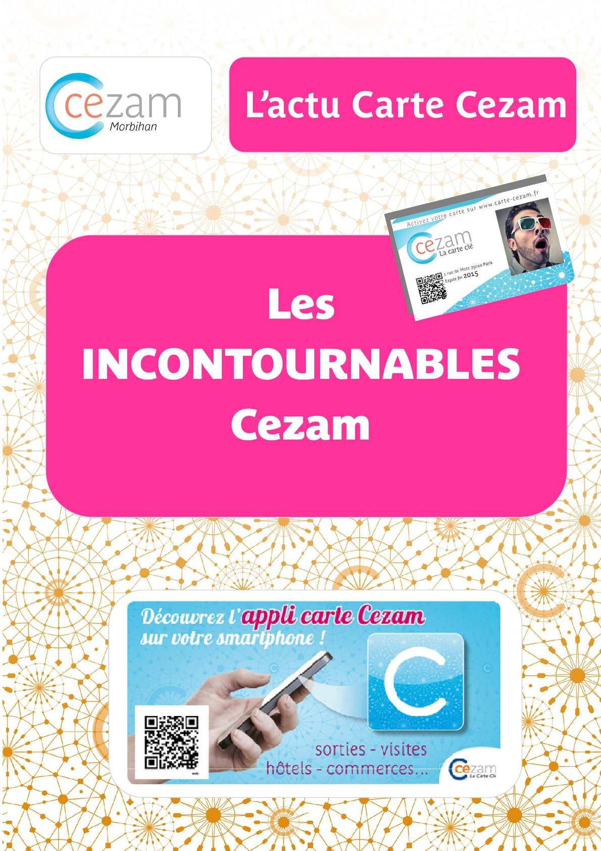 Carte Cezam Niort.Calameo Livret Salaries Cezam 56 X 16