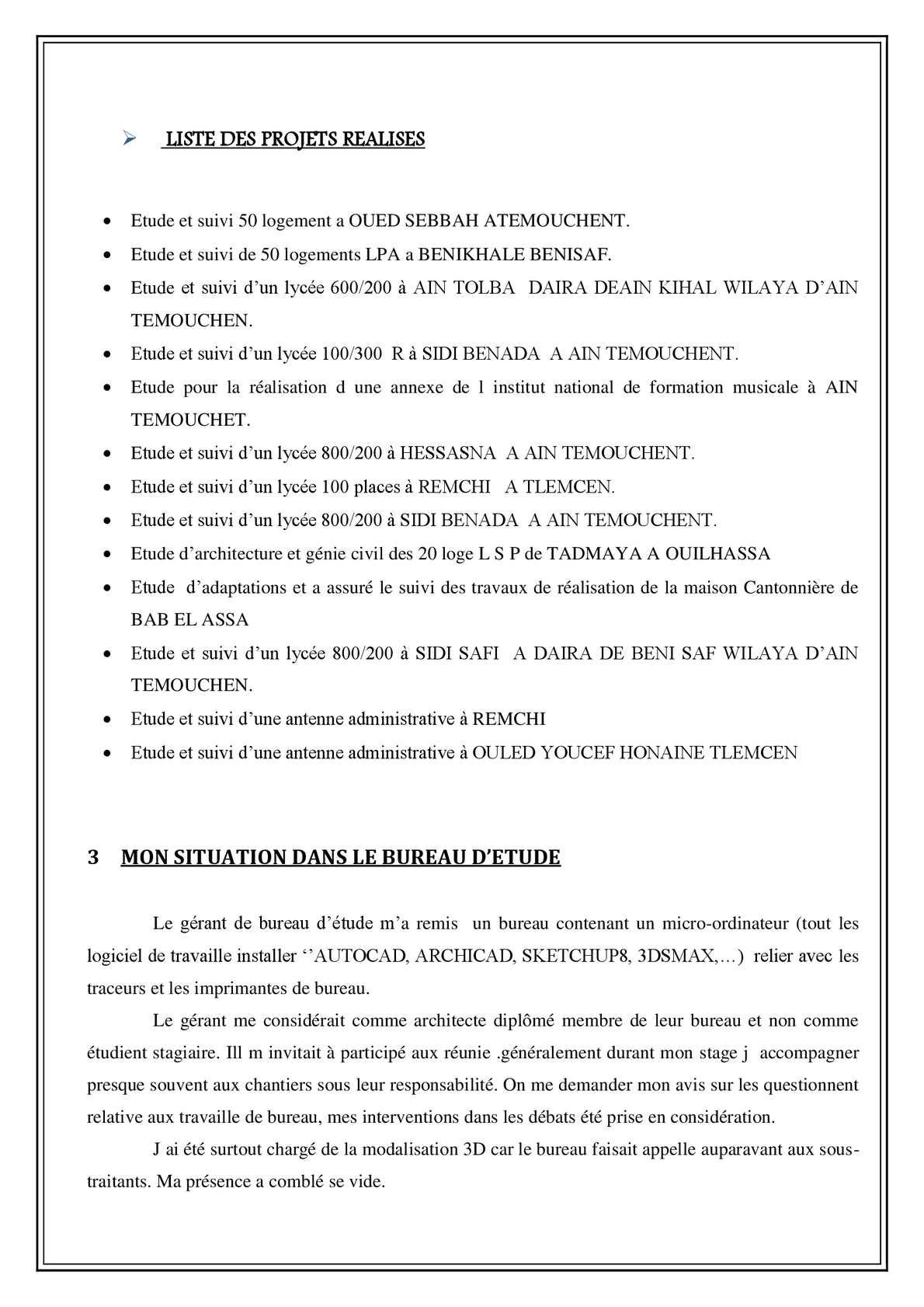 """Maison Des Travaux Avis raport de stage """"architecture"""" - calameo downloader"""