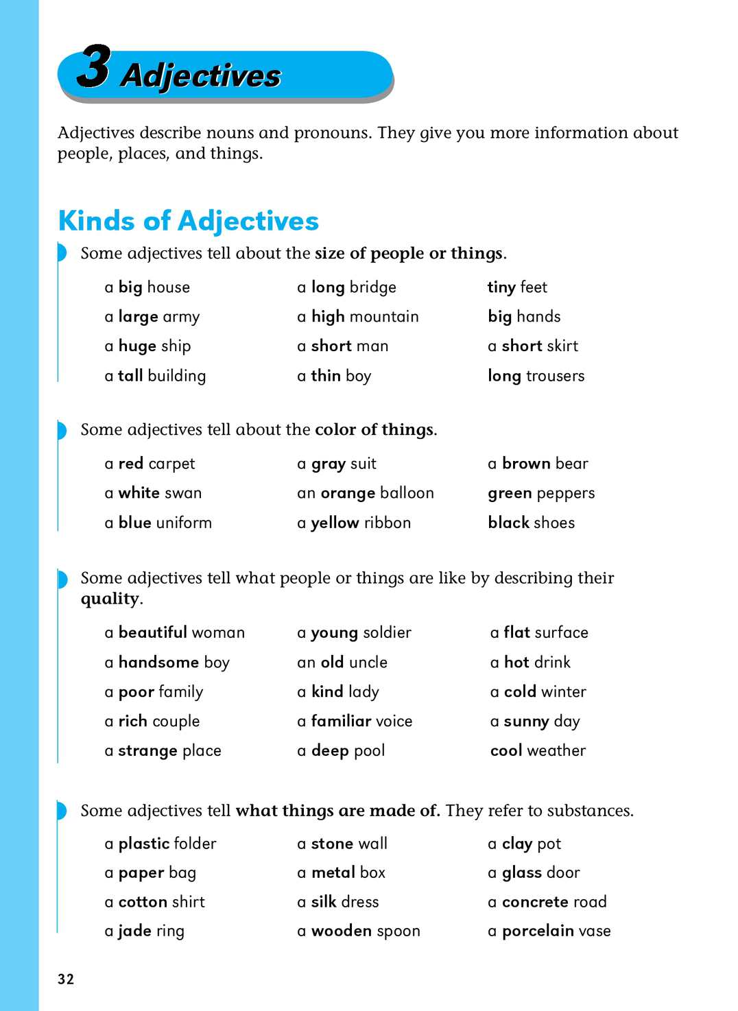 Adjective Word Lists for Writers | Adjective words ... |Describing Nouns List