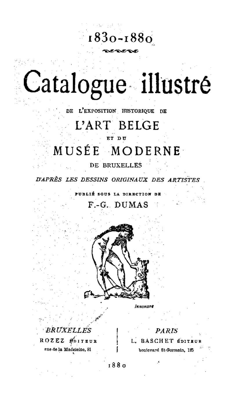 Calaméo - - Catalogue Art Belge F G  DUMAS 1830 1880 -