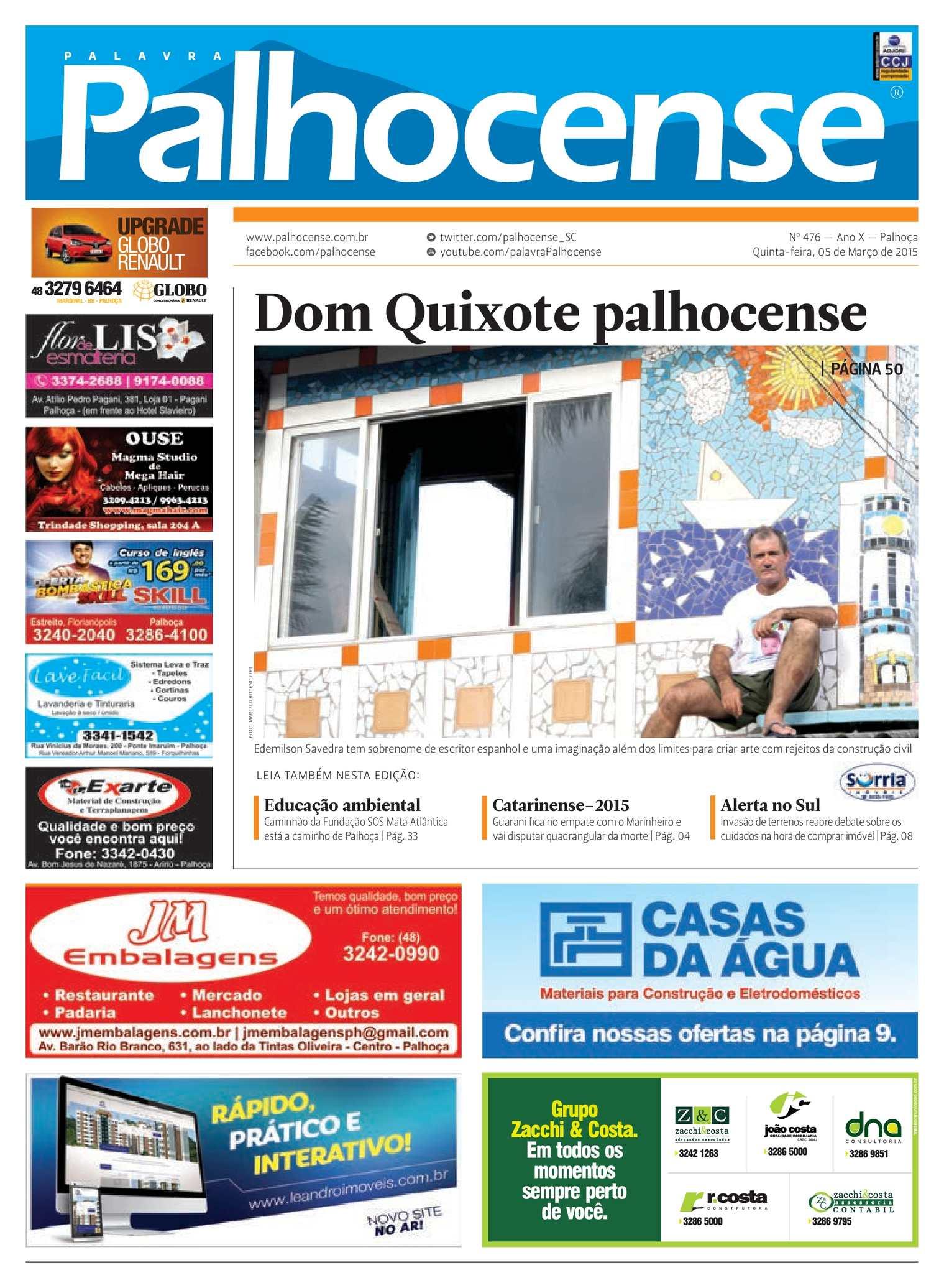 89b49ab5ca4 Calaméo - Jornal Palavra Palhocense - Edição 476