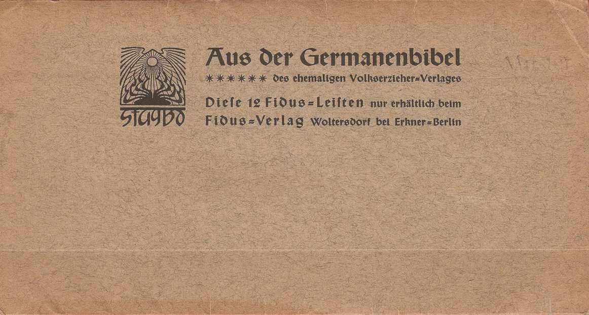 Aus Der Germanenbibel