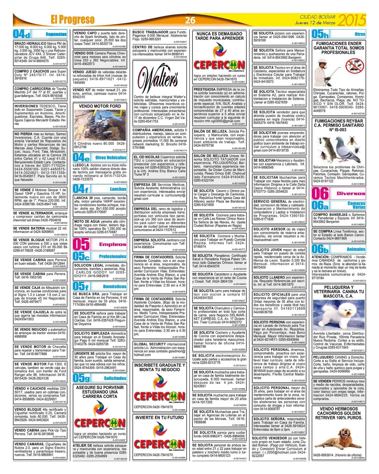 Diarioelprogresoedici Ndigital 12 03 2015 Calameo Downloader # Muebles Veterinarios Corsa