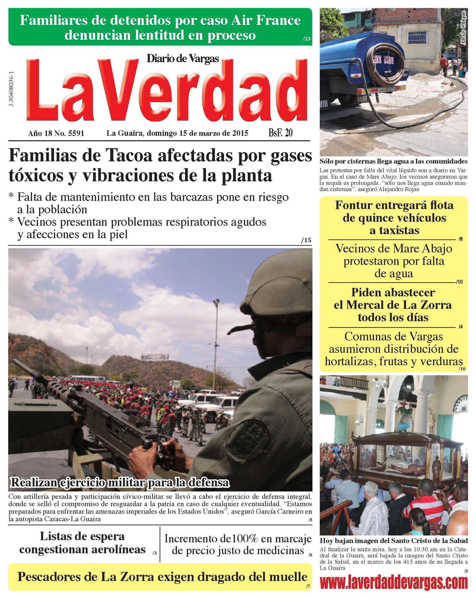 Calaméo - La Guaira, domingo 15 de marzo de 2015 Año 18 No  5591