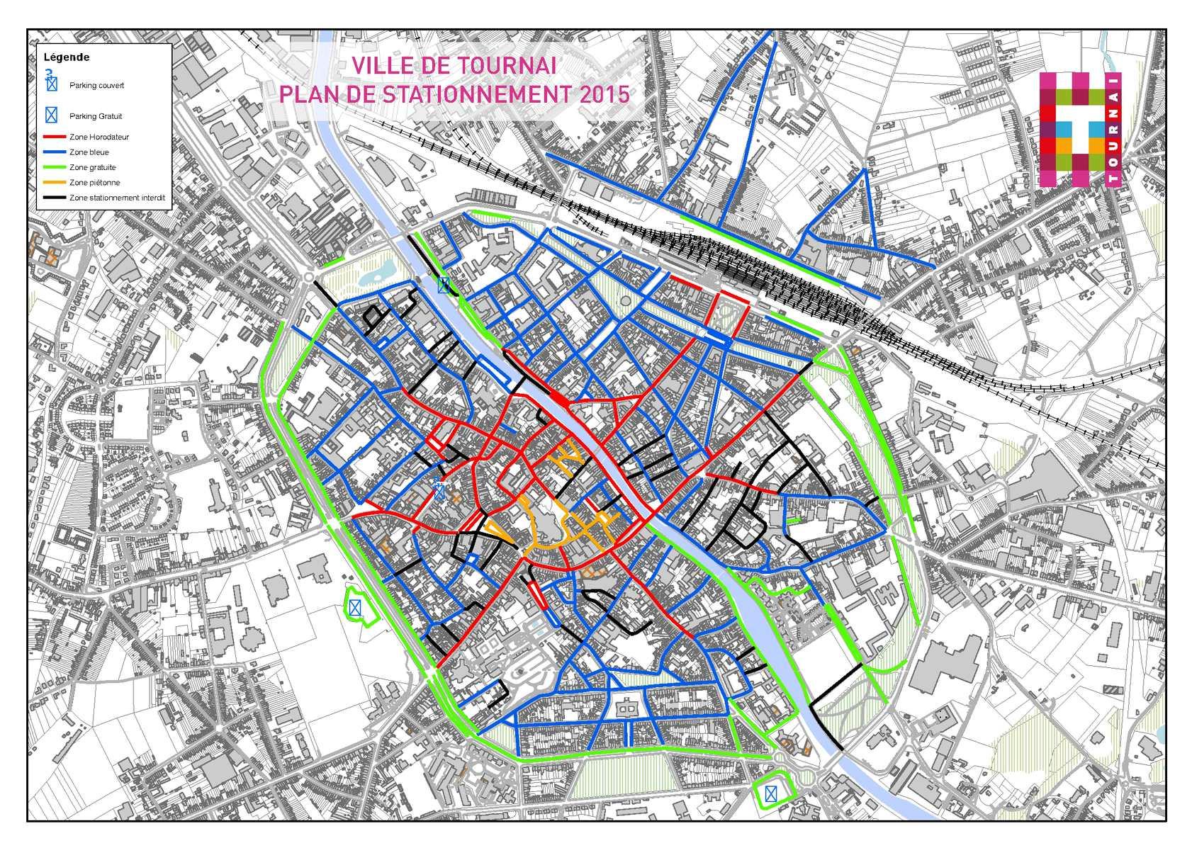 Carte Zone Bleue Tournai.Calameo Ville De Tournai Plan De Stationnement 2015
