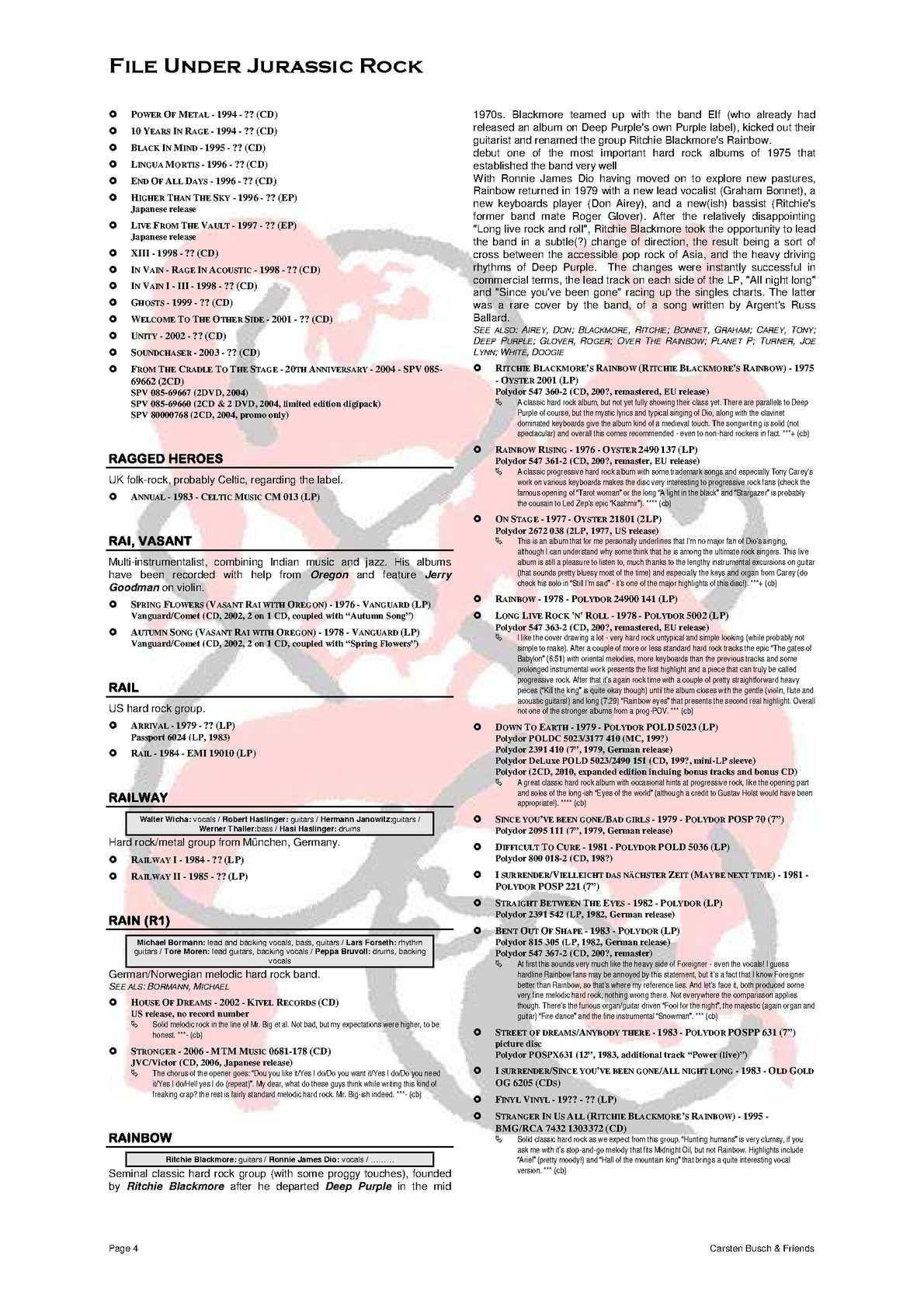 File Under Jurassic Rock - R Temporary (2015) - CALAMEO Downloader