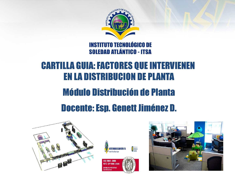 Cartilla Didactica Factores Distribucion De Planta
