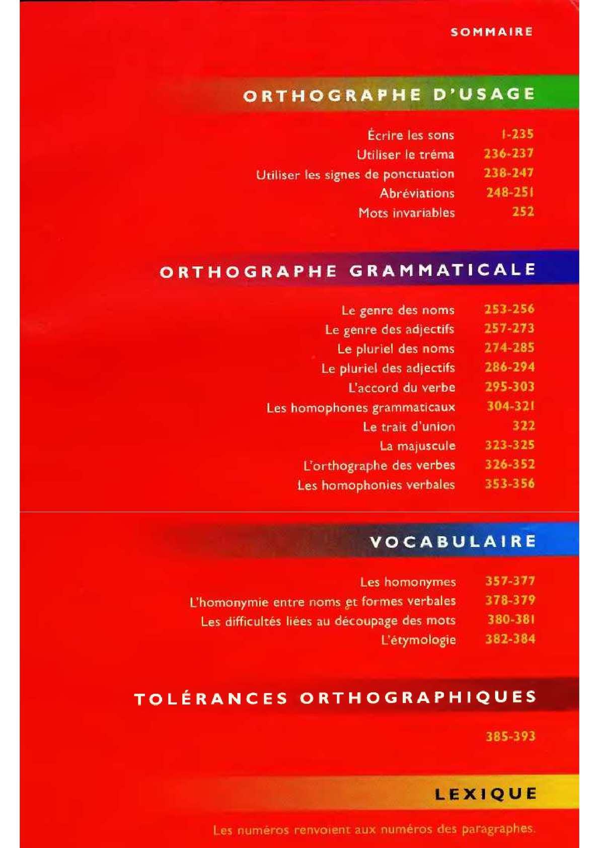 Langue française : les informations et les conseils d'ORTHONET