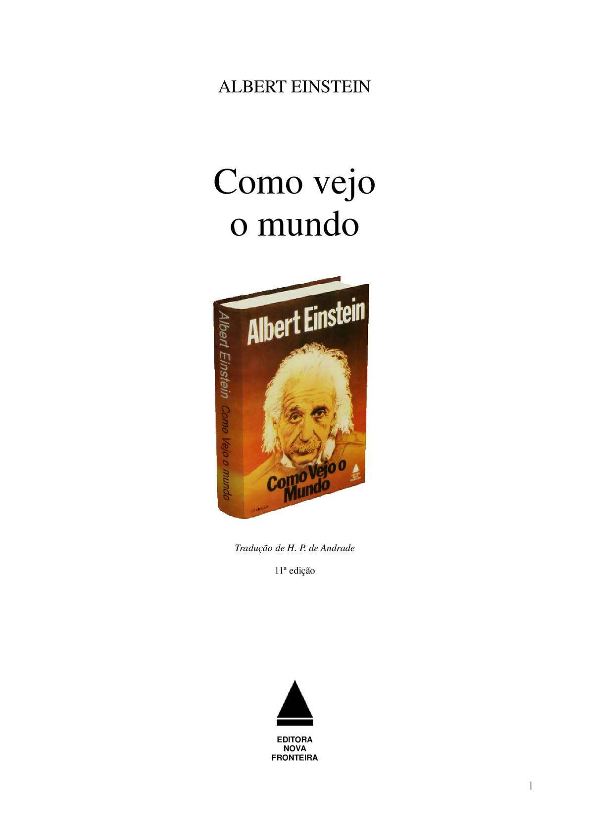 Calaméo Albert Einstein Como Vejo O Mundo