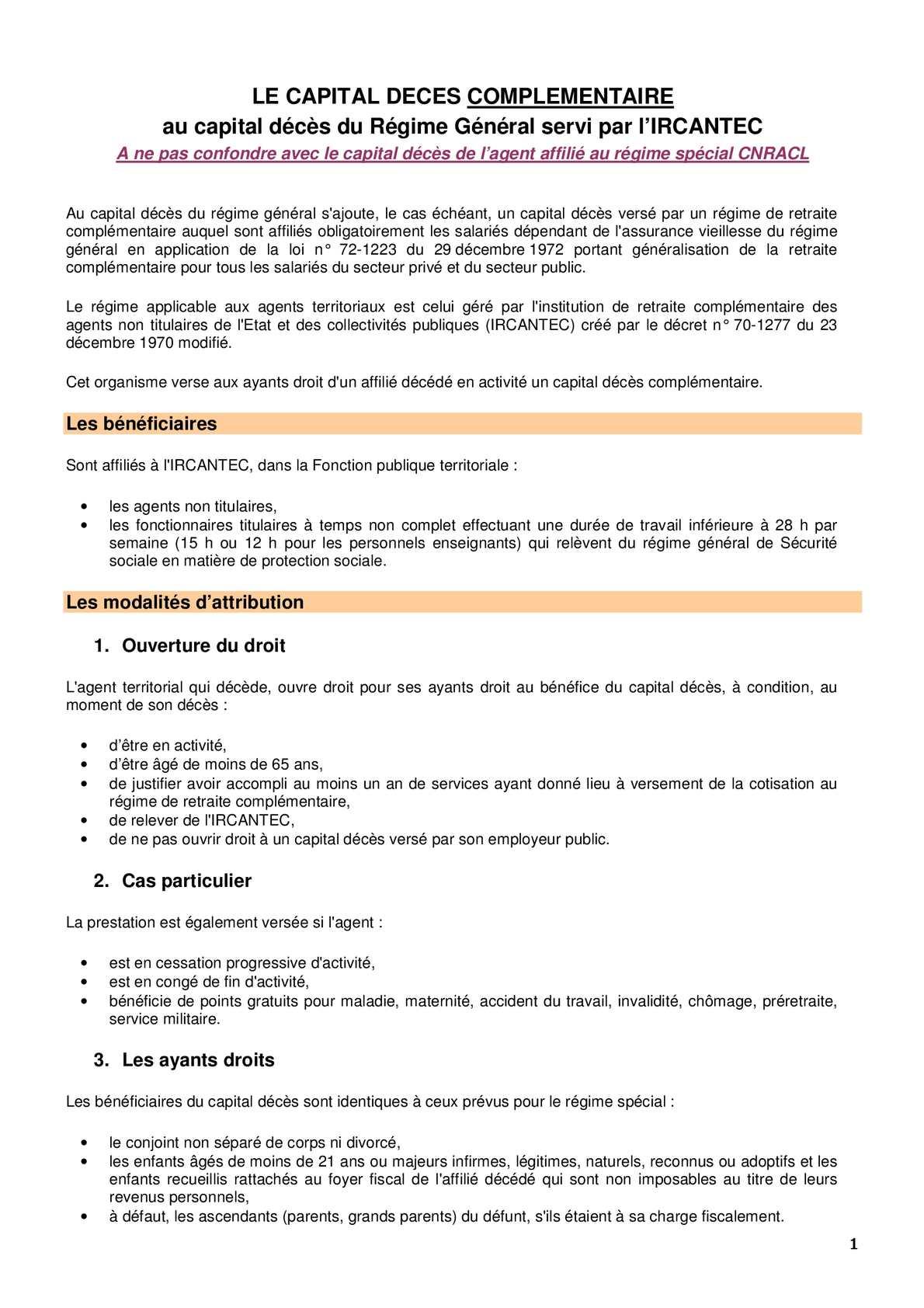 Calameo Rg Capital Deces Complementaire Ircantec Cdg Ain 01
