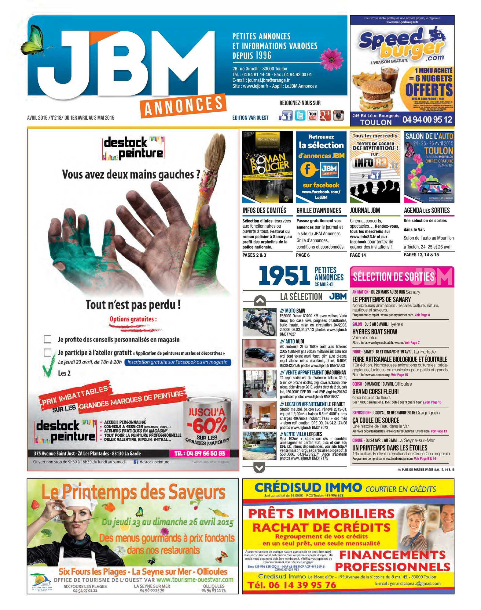 Calaméo Journal Jbm Annonces N218 Avril 2015