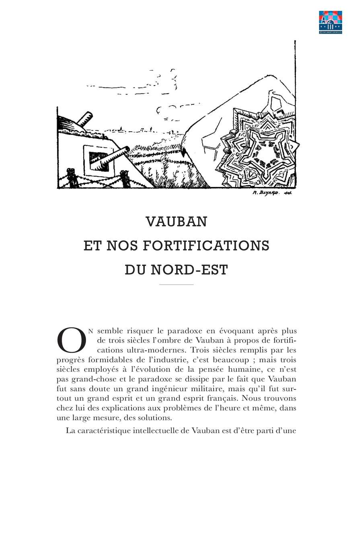 Debeney - Vauban et nos fortifications du Nord-Est (mars 1940)