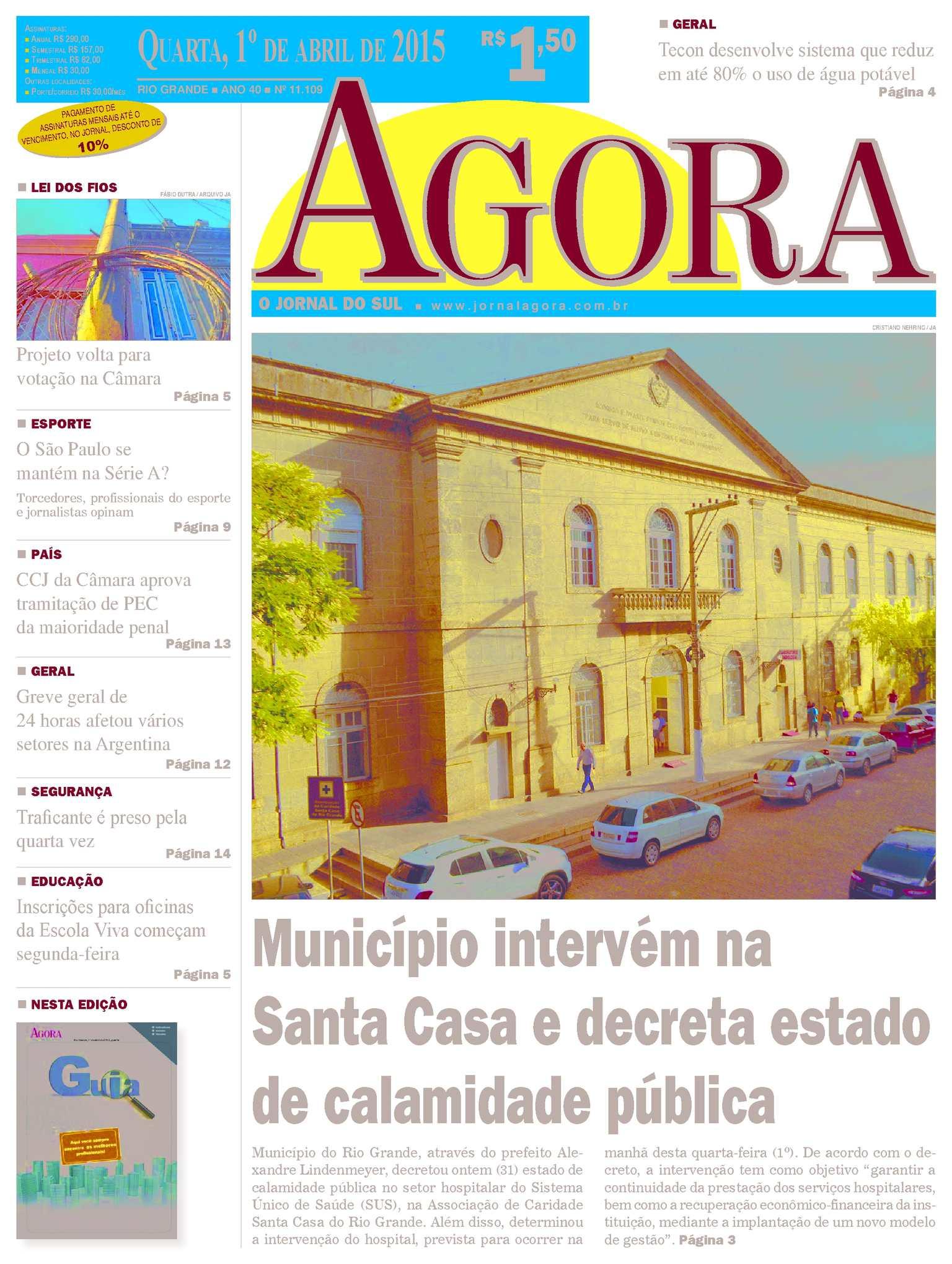 Calaméo - Jornal Agora - Edição 11109 - 1º de Abril de 2015 3120e34a34a9e