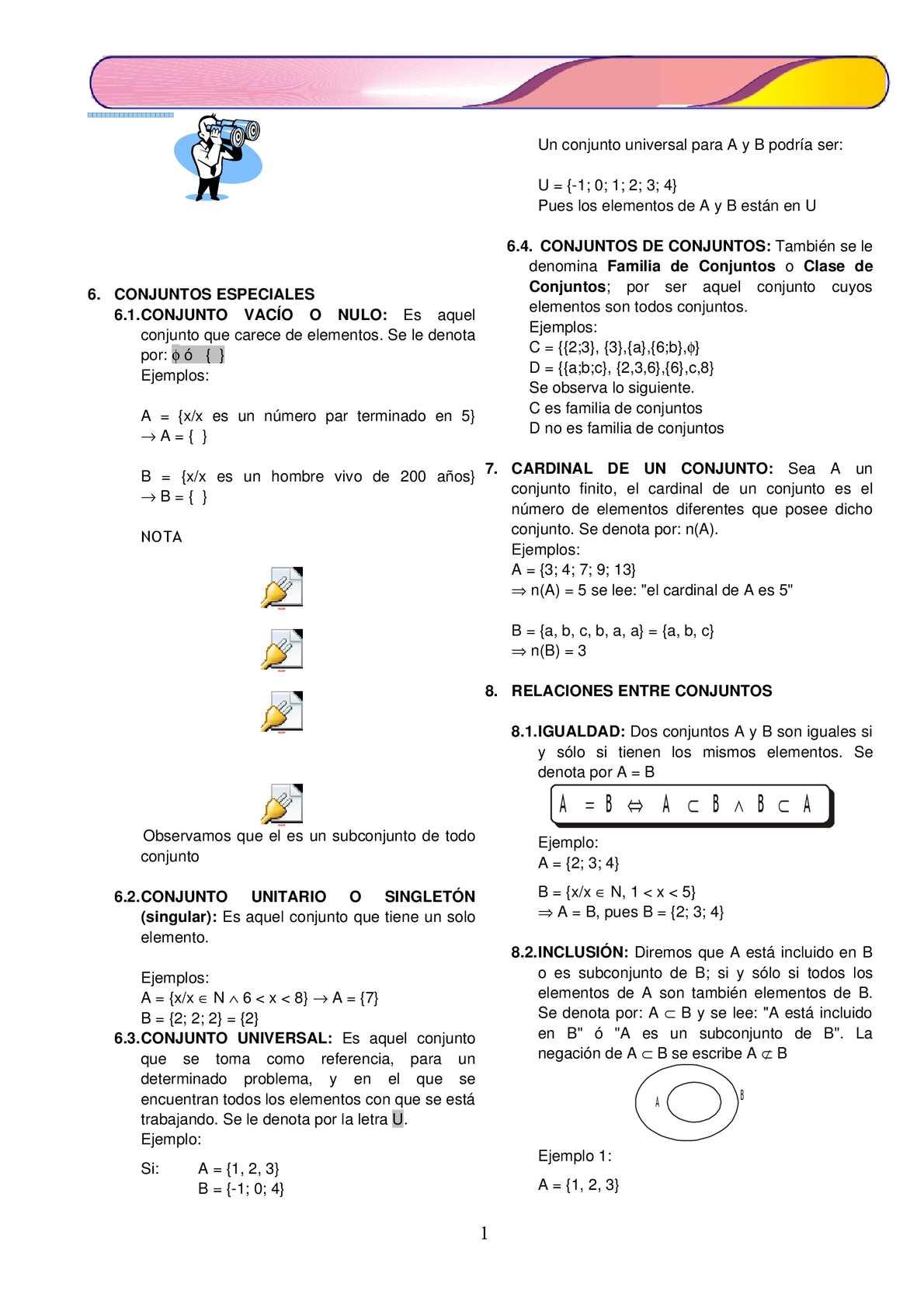 Calaméo Ficha De Trabajo Para Conjuntos 1ro De Secundaria Matematica