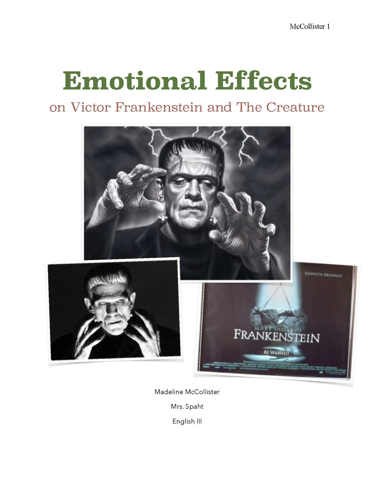 Calameo Emotional Effects On Victor Frankenstein And The Creature