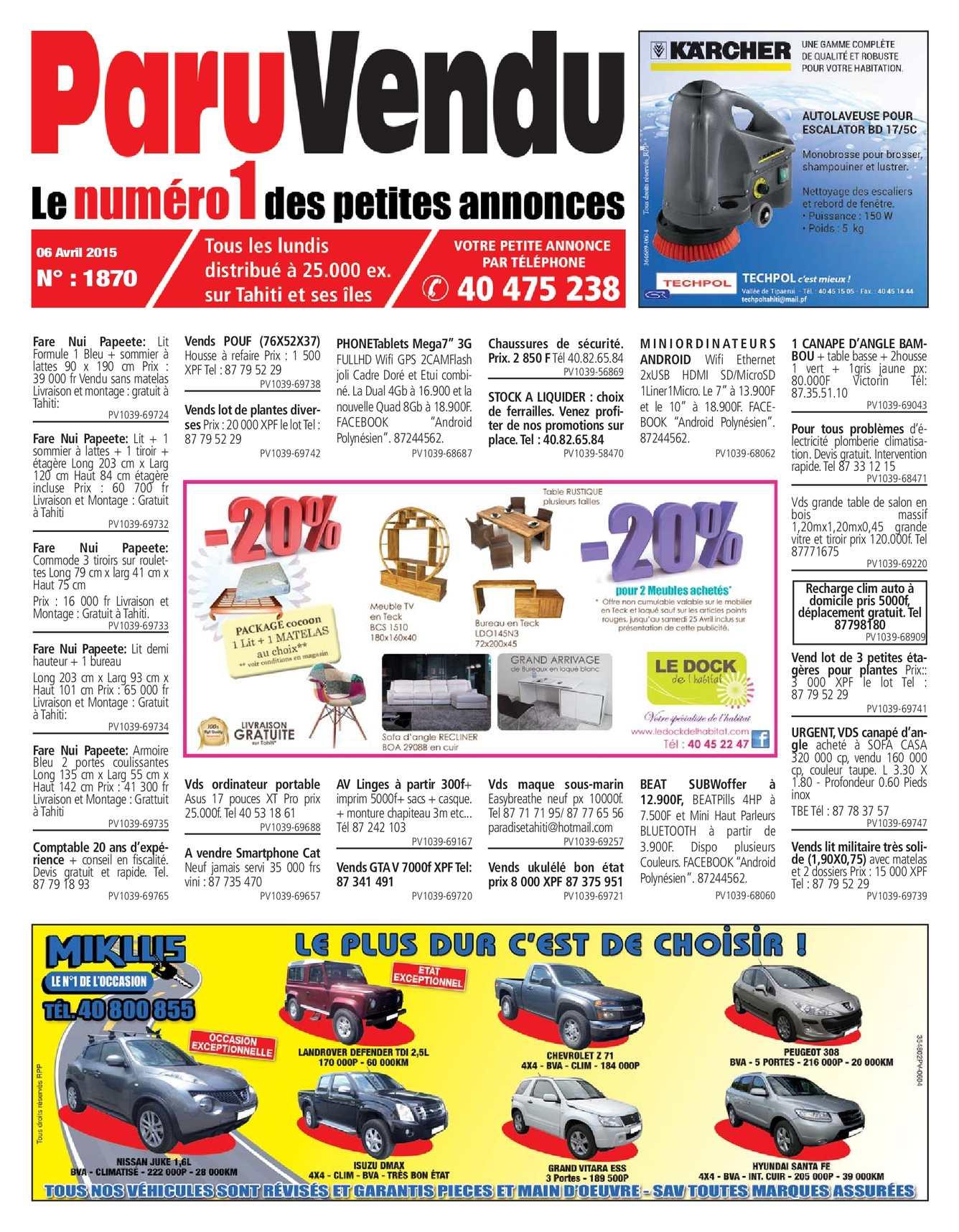 Calaméo ParuVendu édition du 06 avril 2015