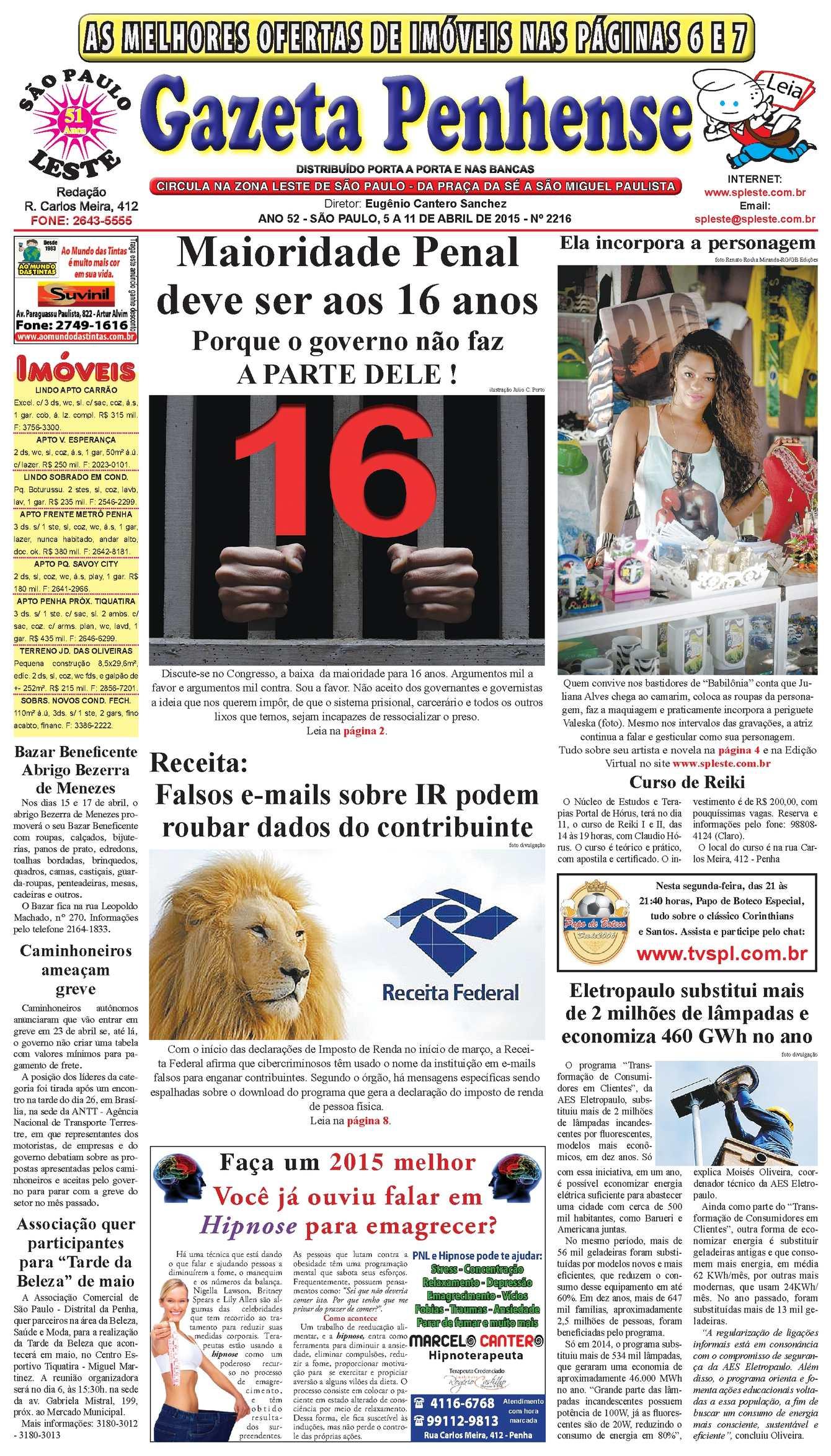f2c0589baa5 Calaméo - Gazeta Penhense - edição 2216 - 5 a 11 04 15