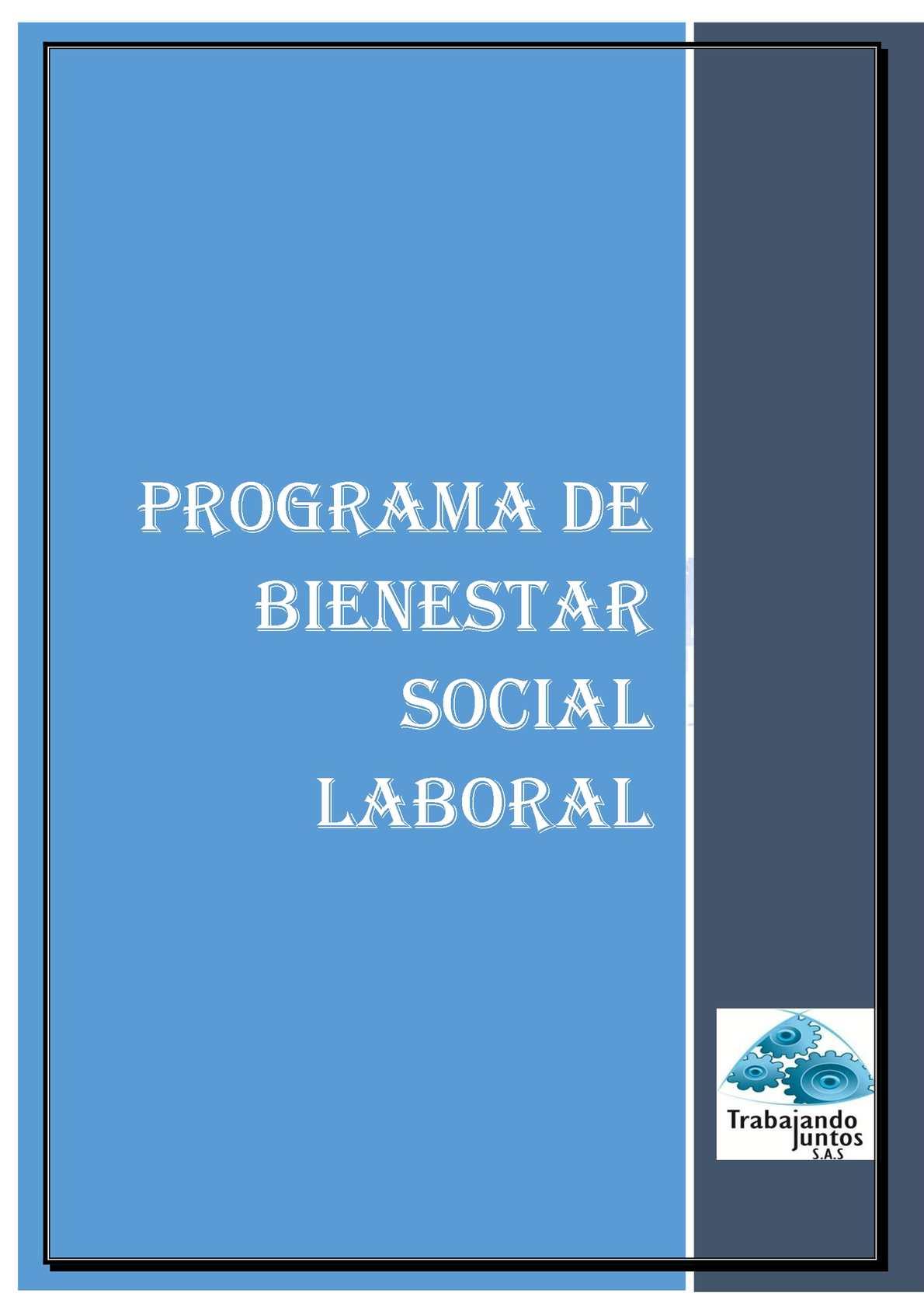 plan de bienestar social laboral de una empresa